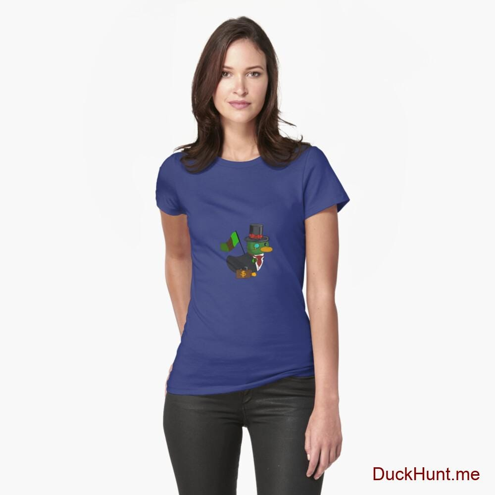 Golden Duck Blue Fitted T-Shirt (Front printed)