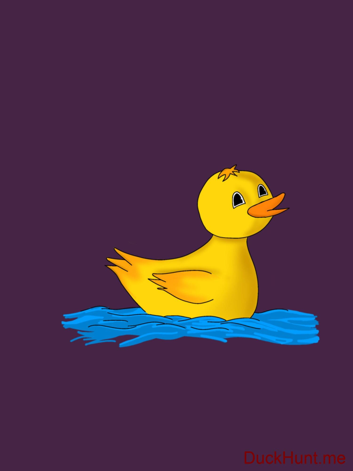 Plastic Duck Eggplant Fitted T-Shirt (Back printed) alternative image 1