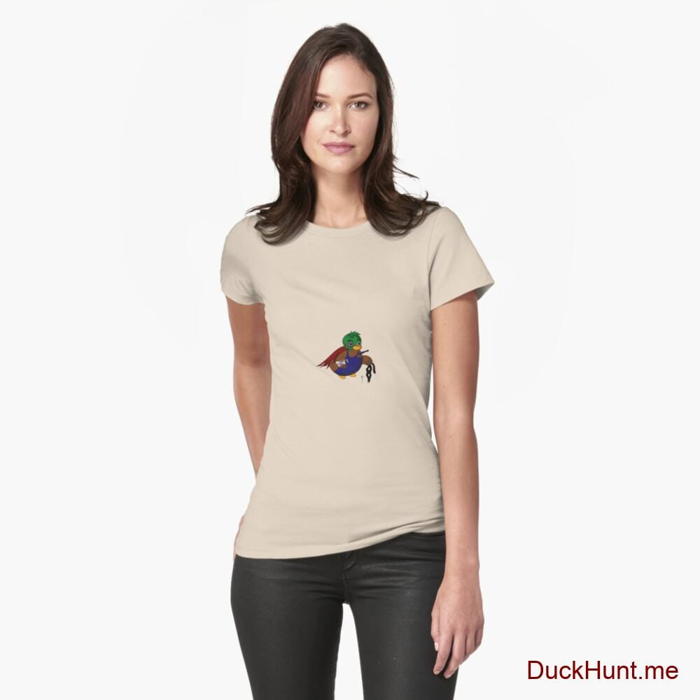 Dead DuckHunt Boss (smokeless) Creme Fitted T-Shirt (Front printed)