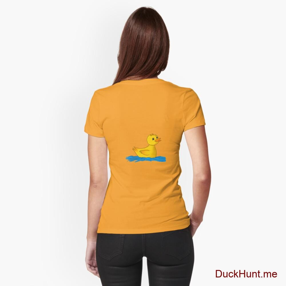 Plastic Duck Gold Fitted T-Shirt (Back printed)