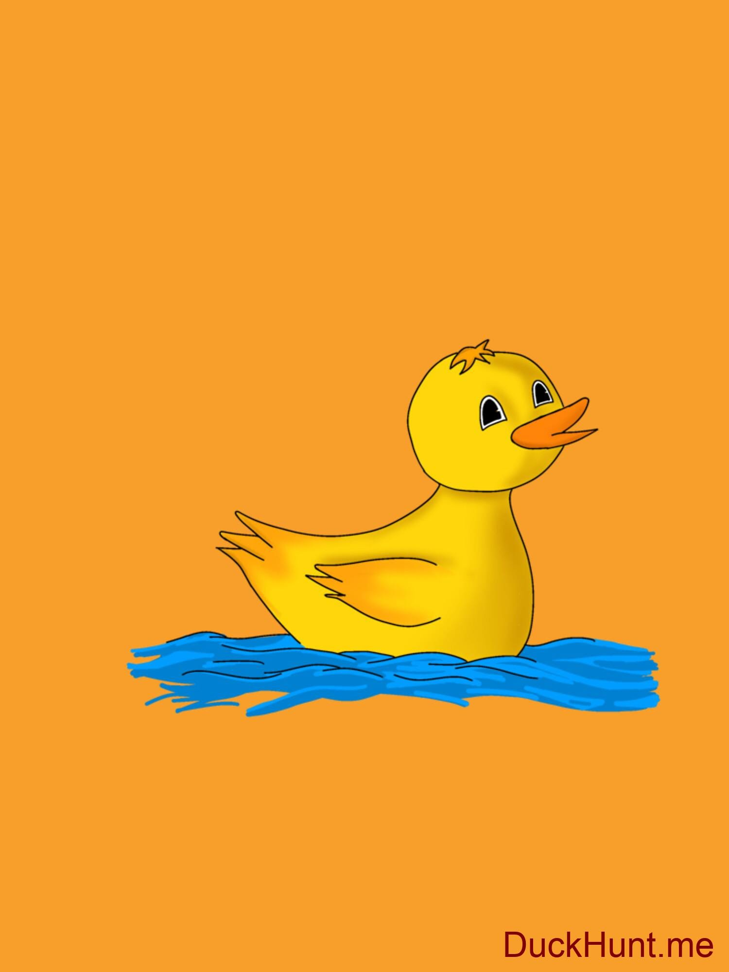 Plastic Duck Gold Fitted T-Shirt (Back printed) alternative image 1