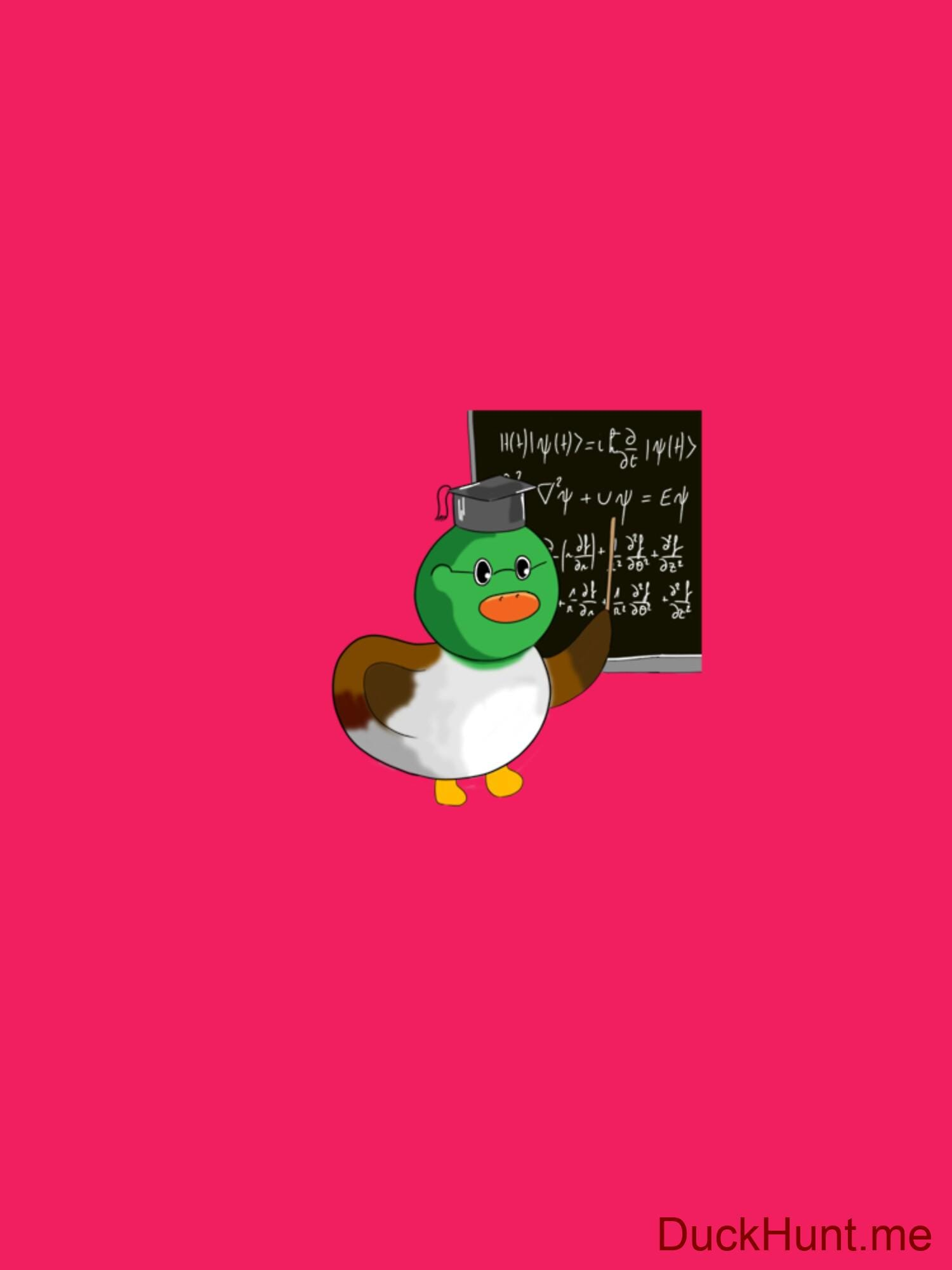 Prof Duck Berry Fitted T-Shirt (Back printed) alternative image 1