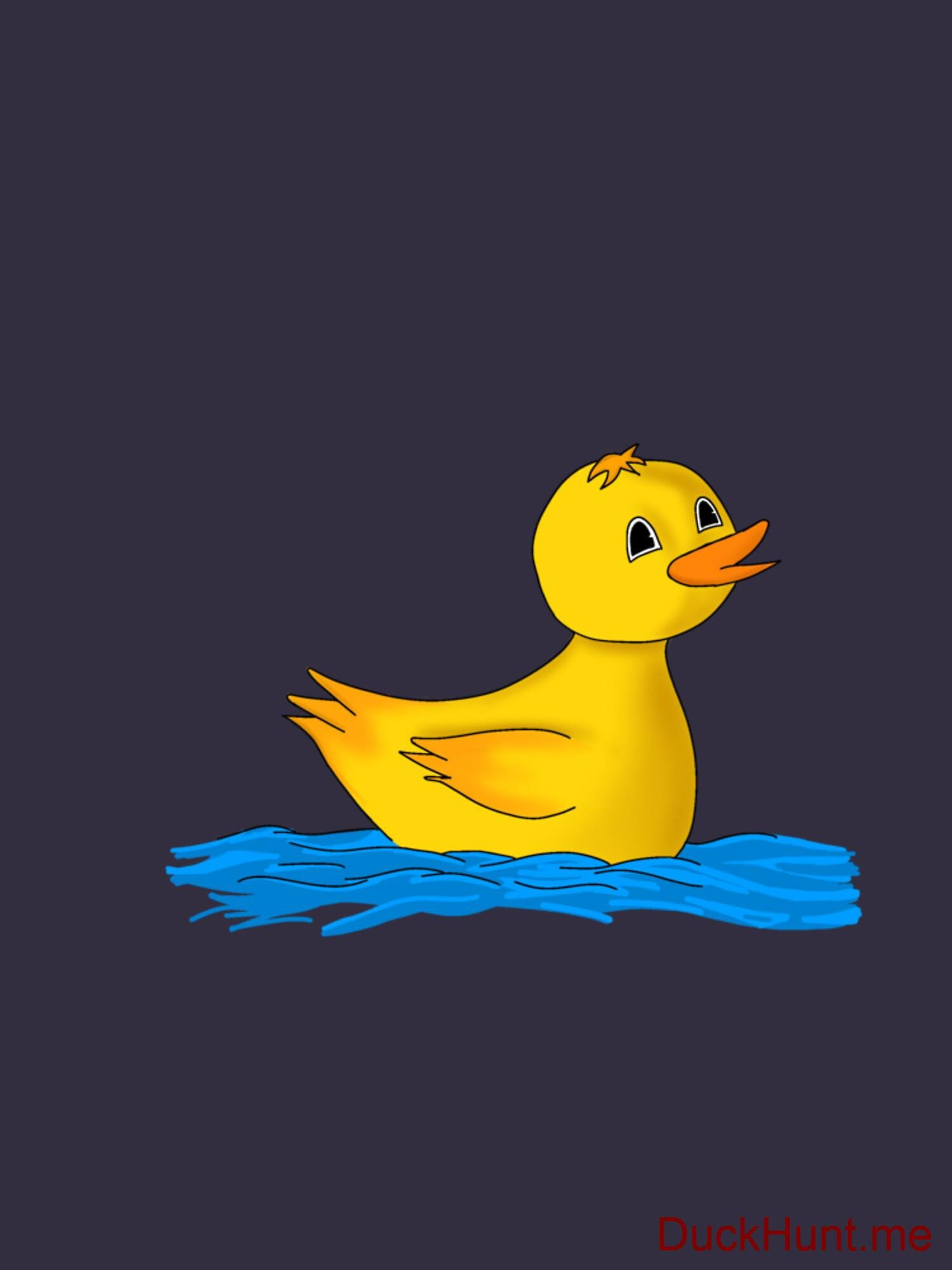 Plastic Duck Dark Blue Fitted T-Shirt (Back printed) alternative image 1