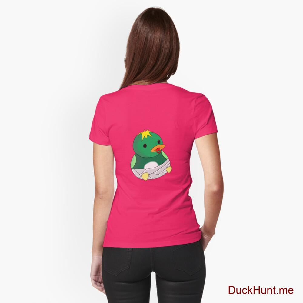 Baby duck Berry Fitted T-Shirt (Back printed)