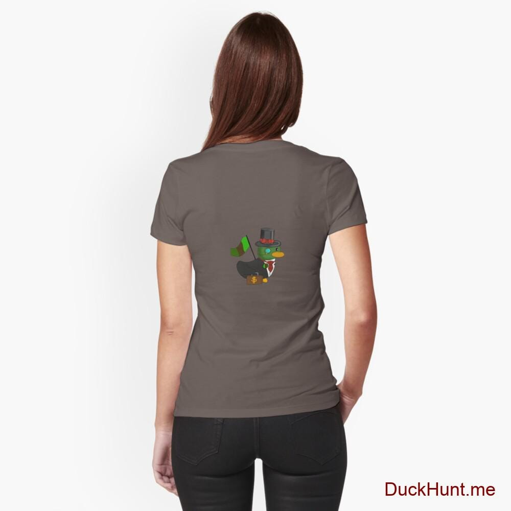 Golden Duck Dark Grey Fitted T-Shirt (Back printed)