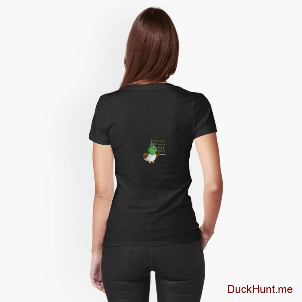 Prof Duck Black Fitted T-Shirt (Back printed)