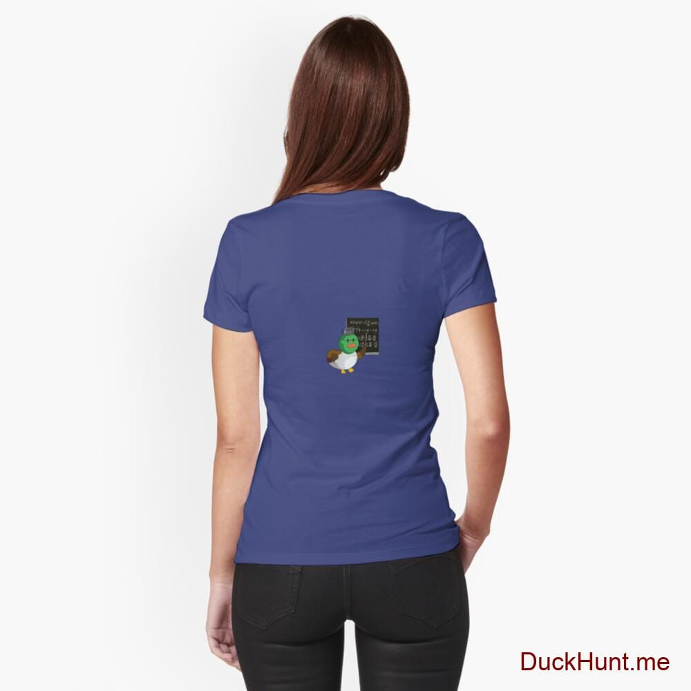 Prof Duck Blue Fitted T-Shirt (Back printed)