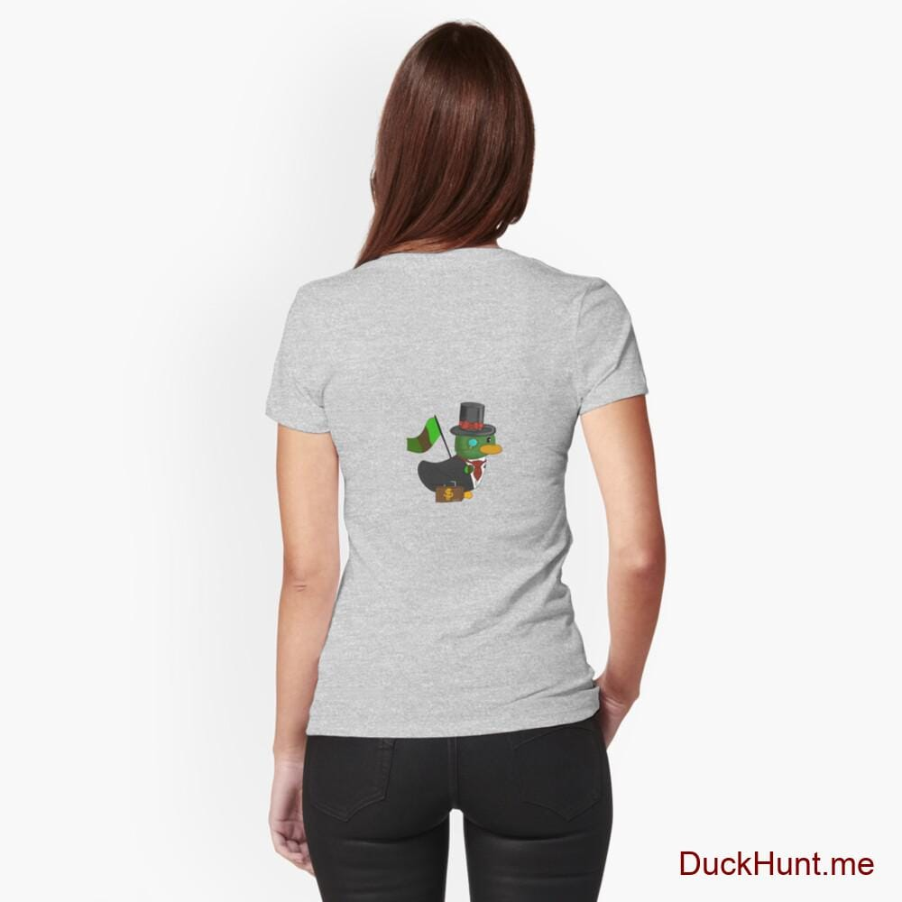Golden Duck Heather Grey Fitted T-Shirt (Back printed)