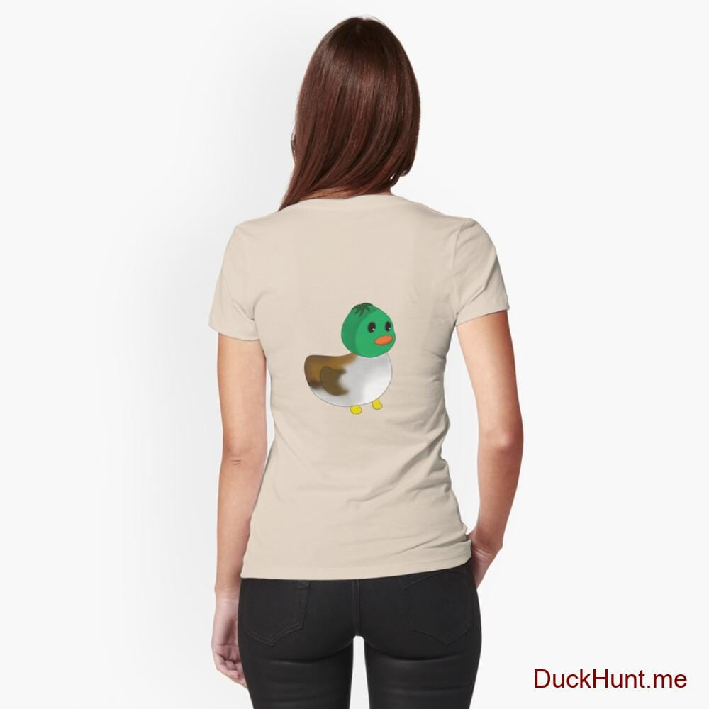 Normal Duck Creme Fitted T-Shirt (Back printed)