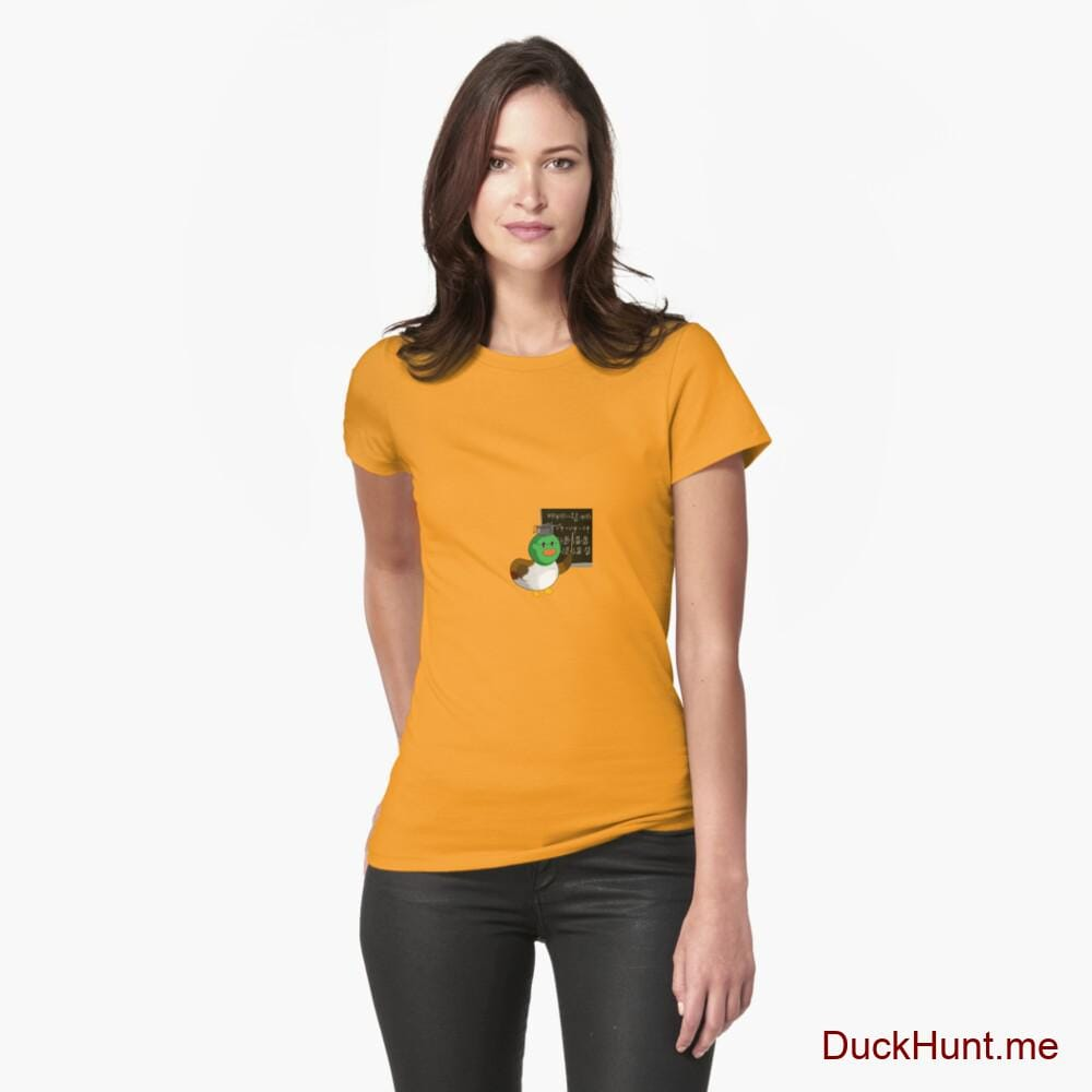 Prof Duck Gold Fitted T-Shirt (Front printed)
