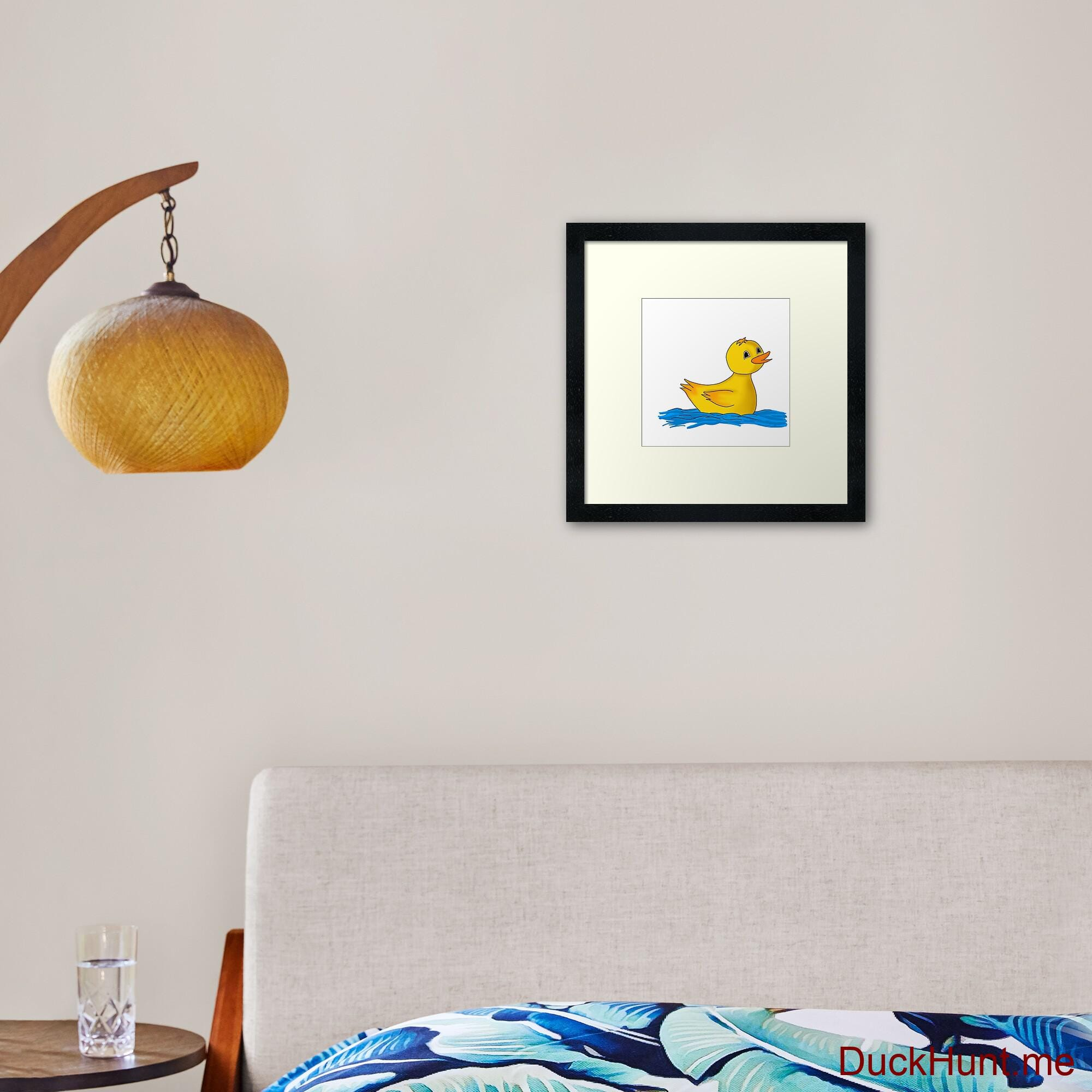 Plastic Duck Framed Art Print