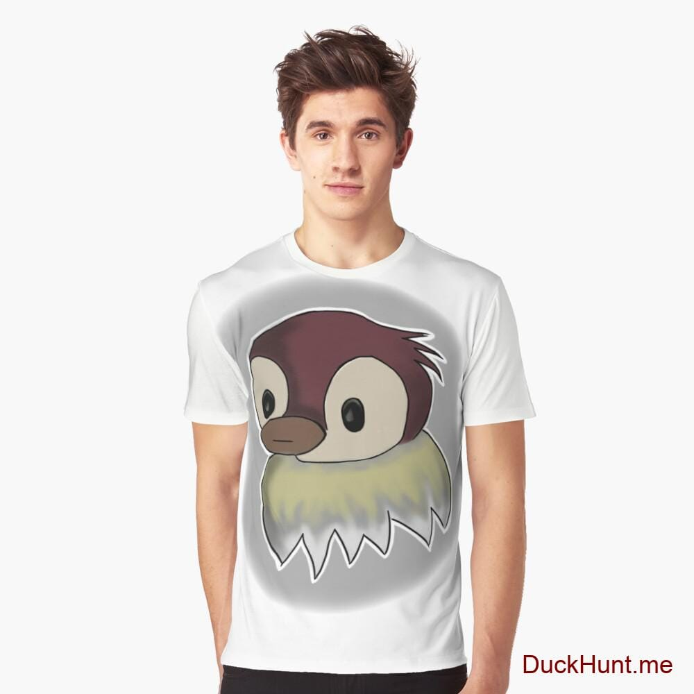 Ghost Duck (foggy) White Graphic T-Shirt