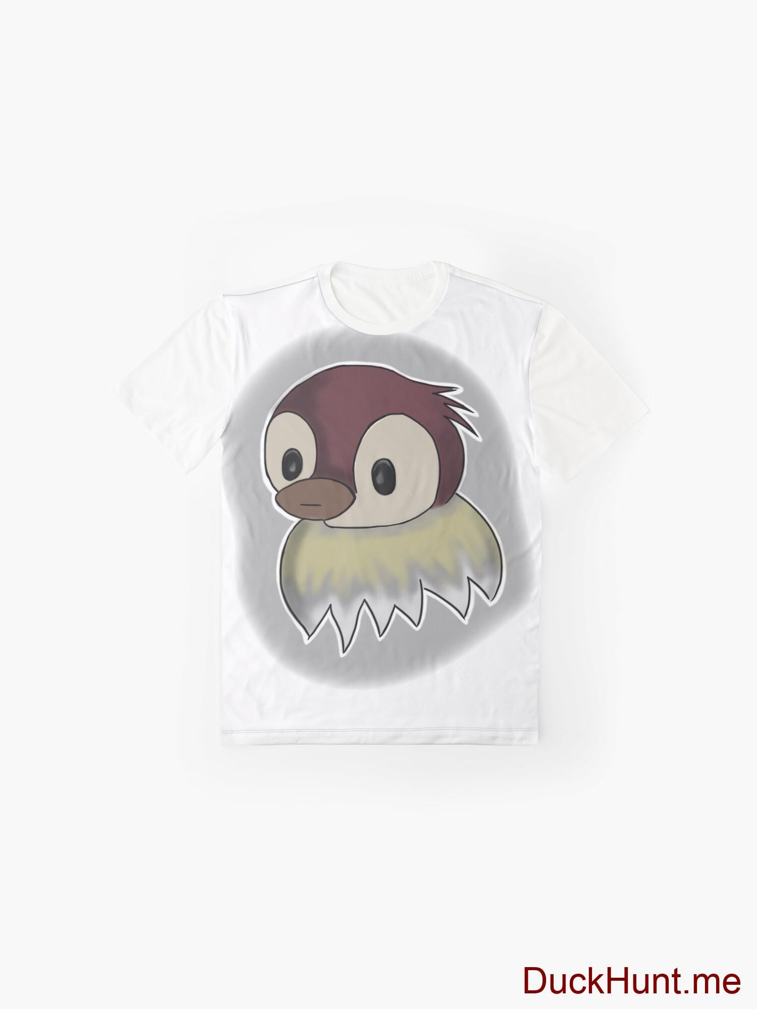 Ghost Duck (foggy) White Graphic T-Shirt alternative image 3