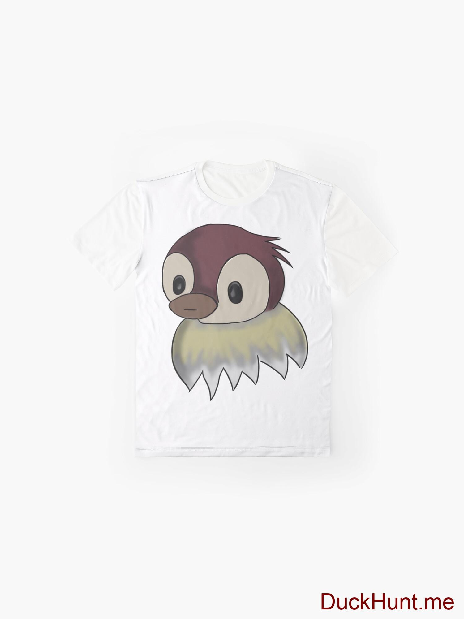Ghost Duck (fogless) White Graphic T-Shirt alternative image 3