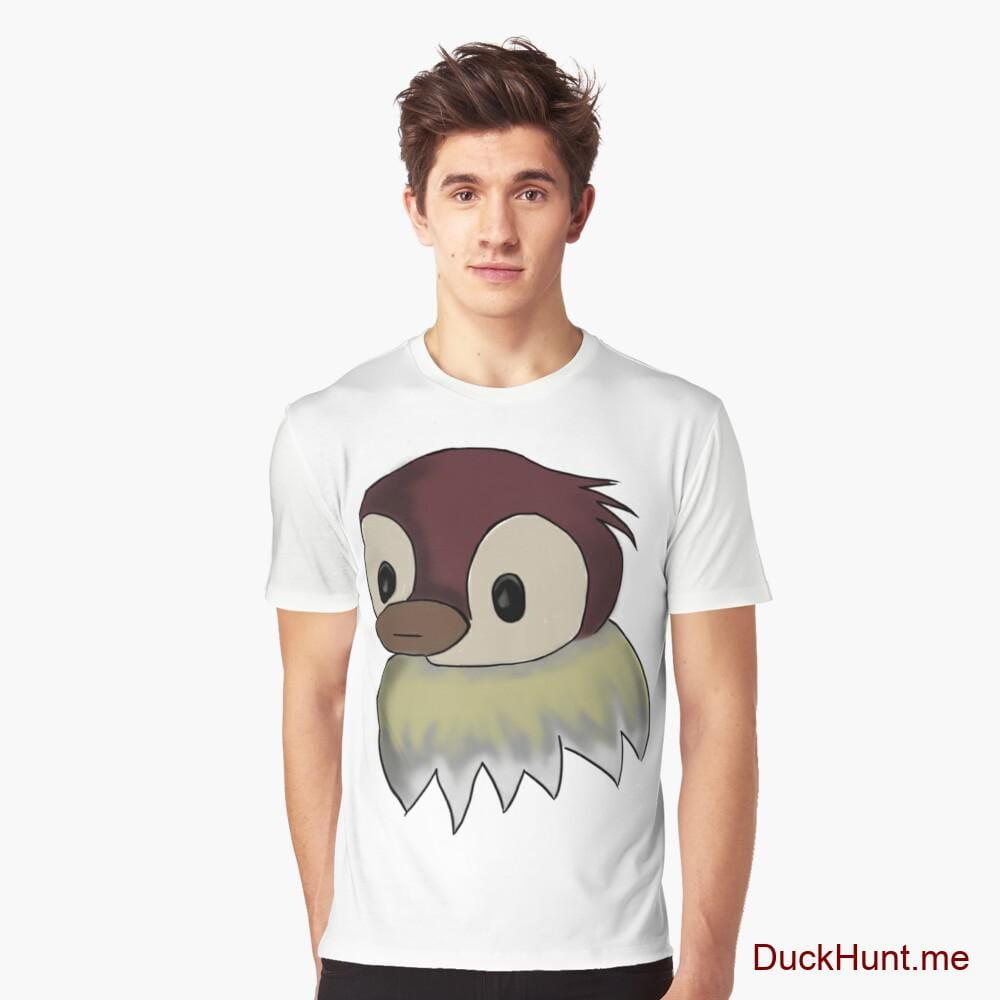 Ghost Duck (fogless) White Graphic T-Shirt
