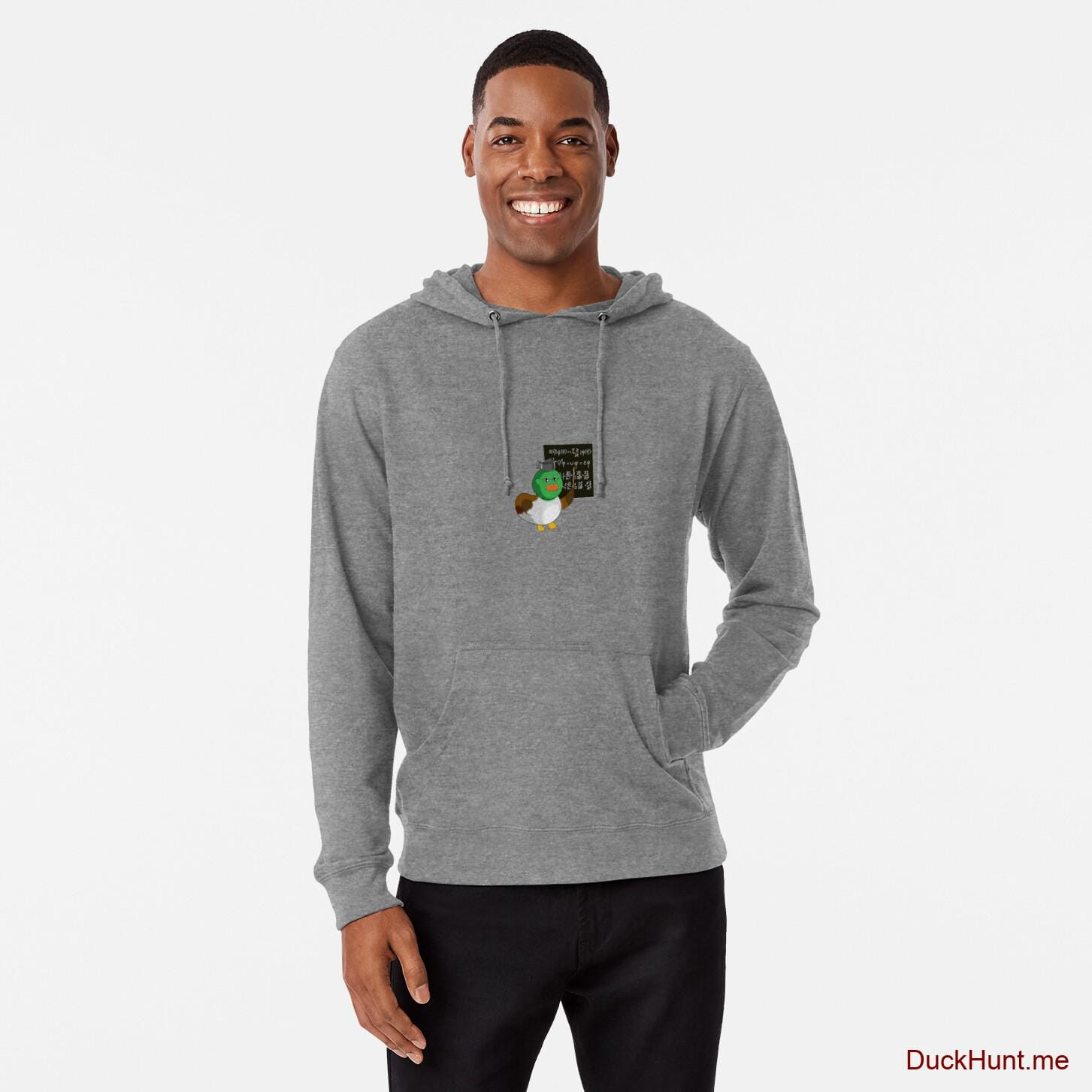 Prof Duck Grey Lightweight Hoodie (Front printed)