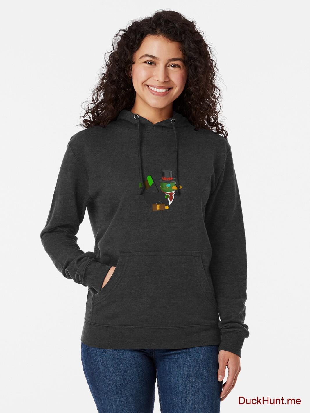 Golden Duck Charcoal Lightweight Hoodie (Front printed) alternative image 1