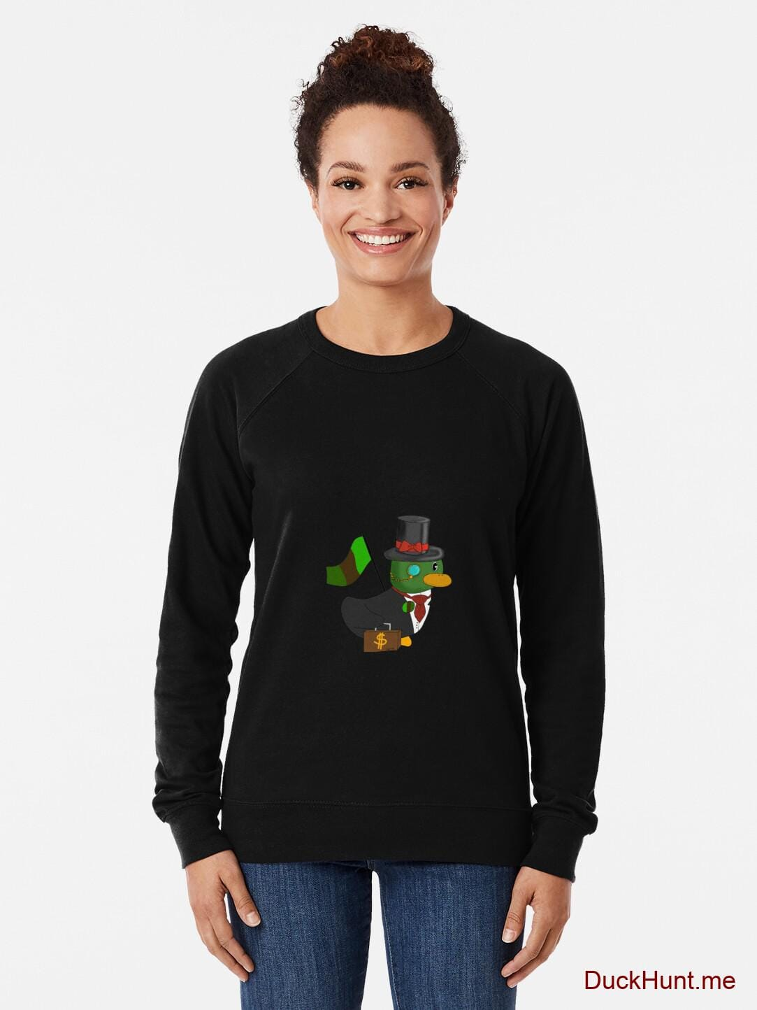 Golden Duck Black Lightweight Sweatshirt alternative image 1
