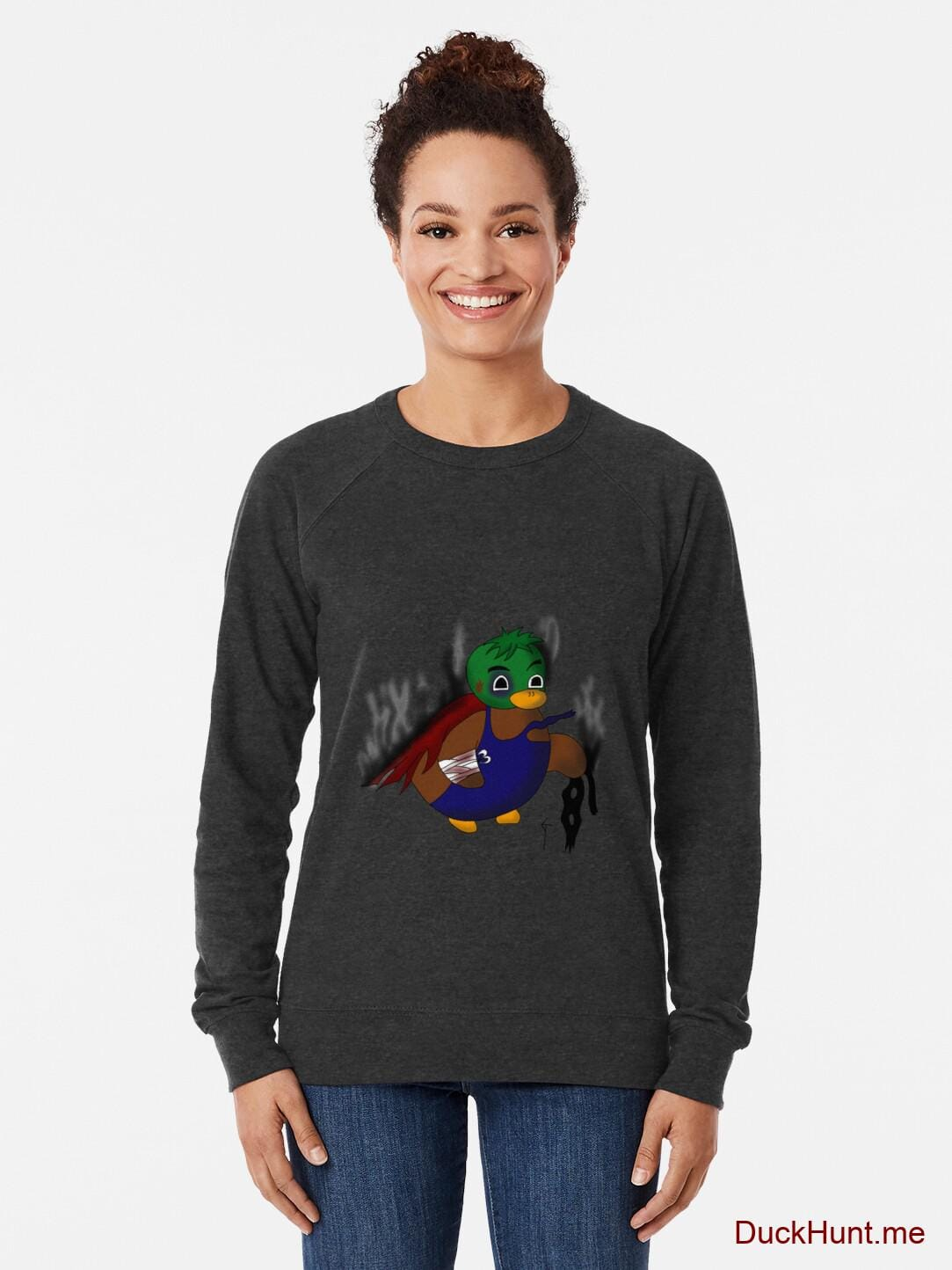 Dead Boss Duck (smoky) Charcoal Lightweight Sweatshirt alternative image 1