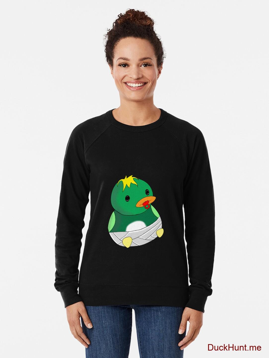 Baby duck Black Lightweight Sweatshirt alternative image 1