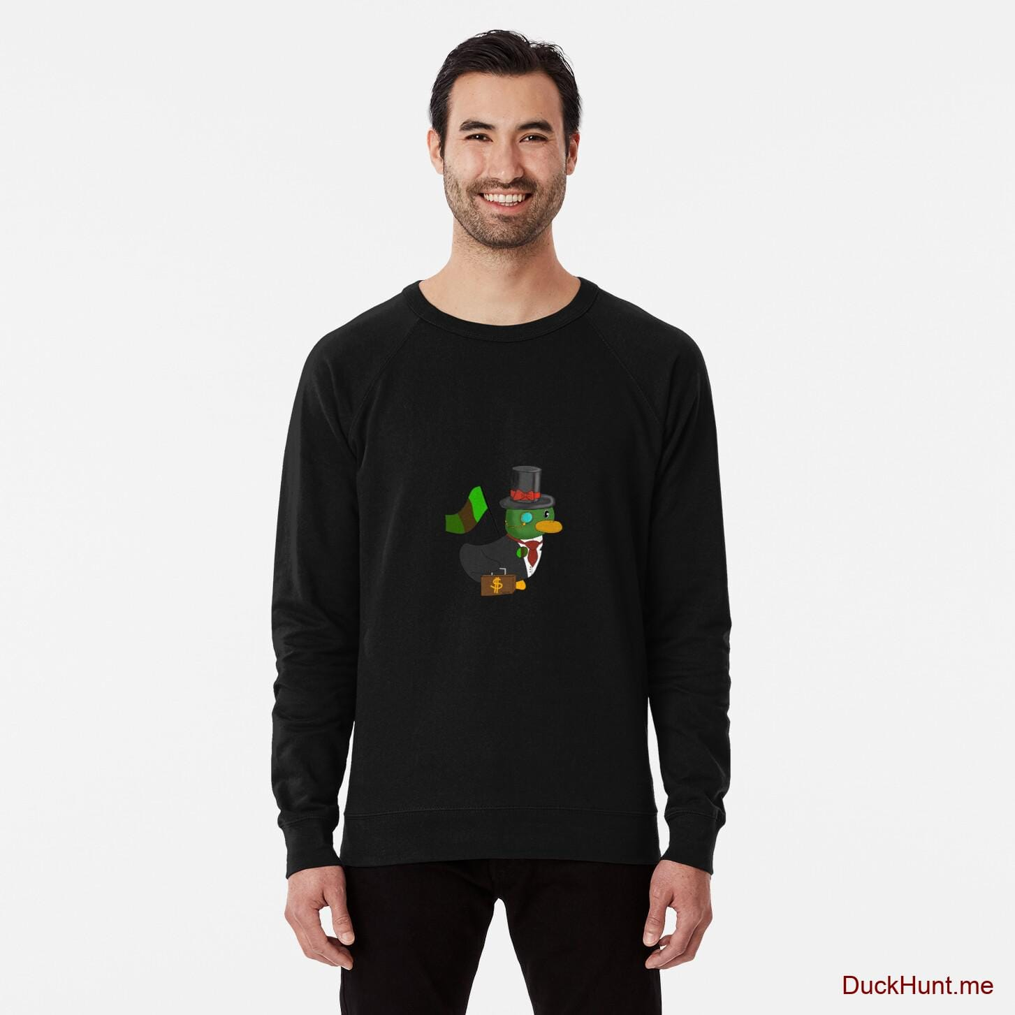 Golden Duck Black Lightweight Sweatshirt