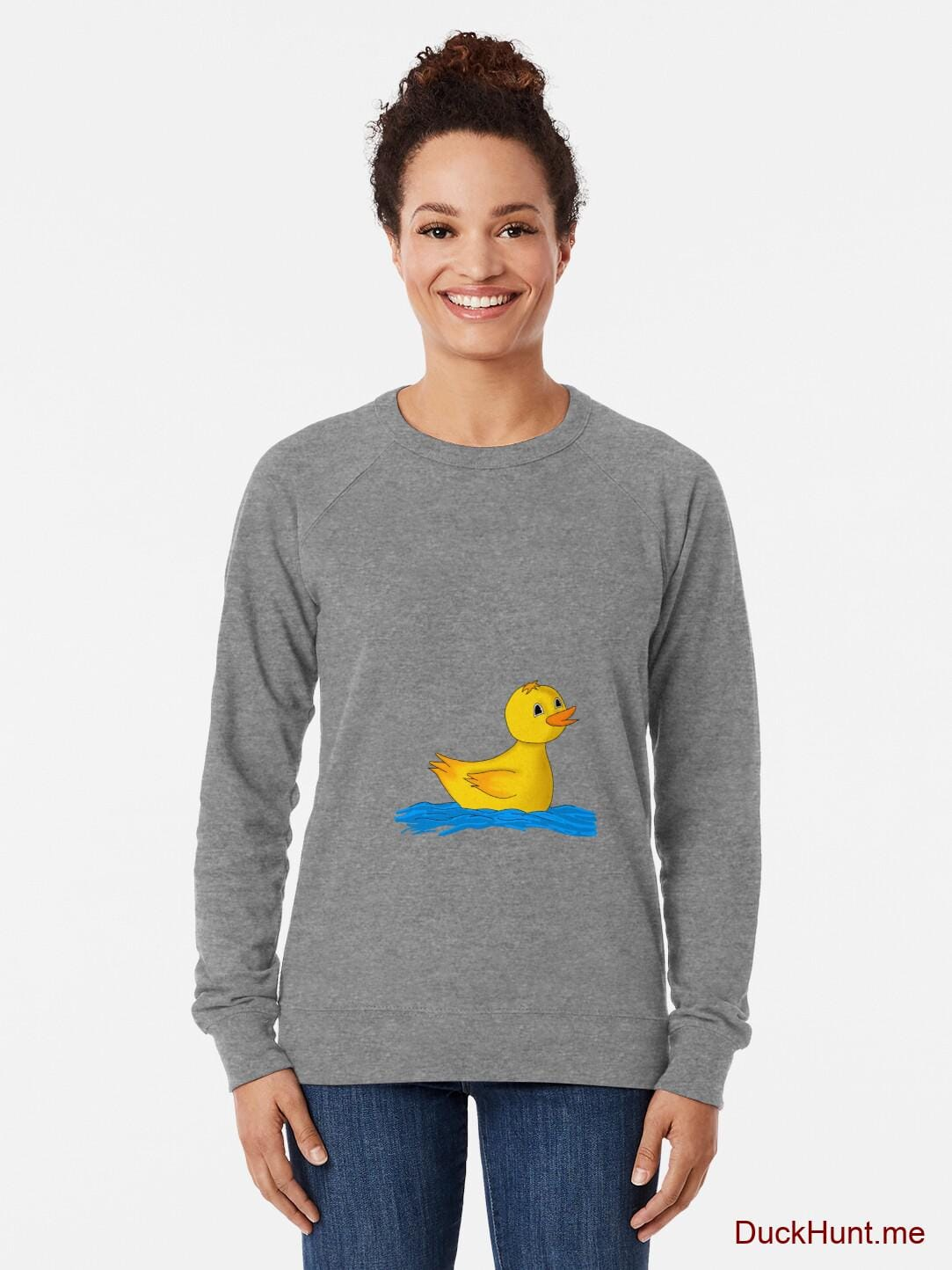 Plastic Duck Grey Lightweight Sweatshirt alternative image 1