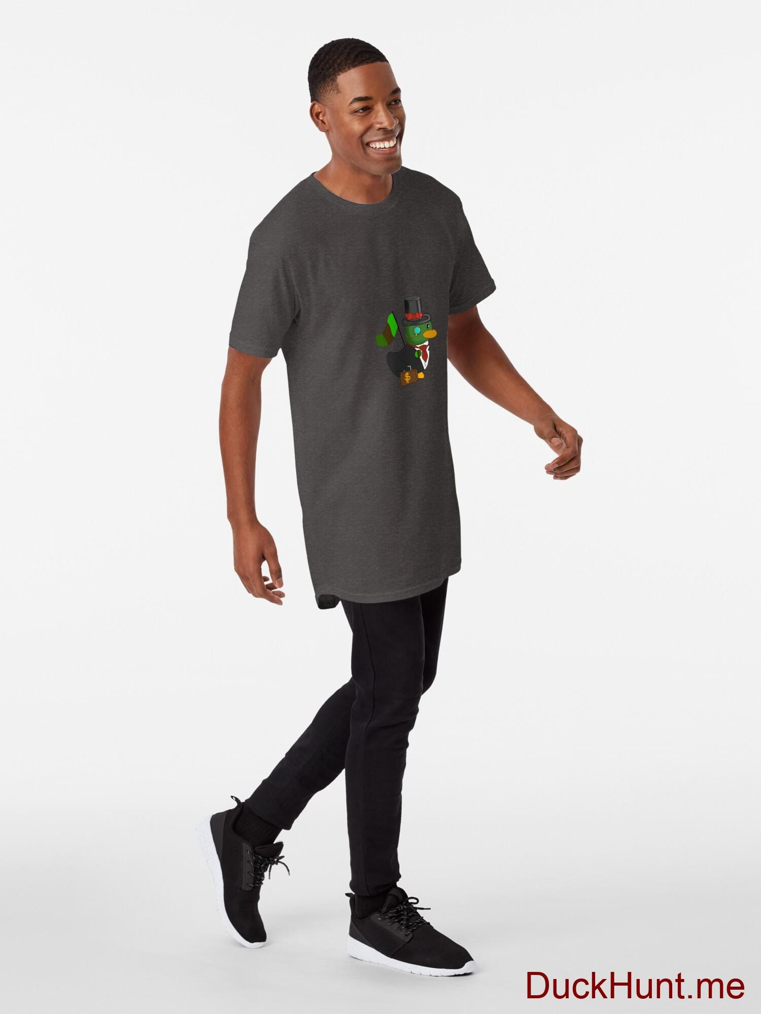 Golden Duck Charcoal Heather Long T-Shirt (Front printed) alternative image 2