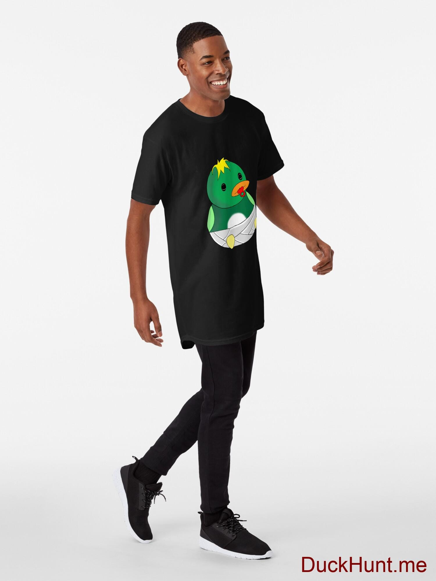 Baby duck Black Long T-Shirt (Front printed) alternative image 2