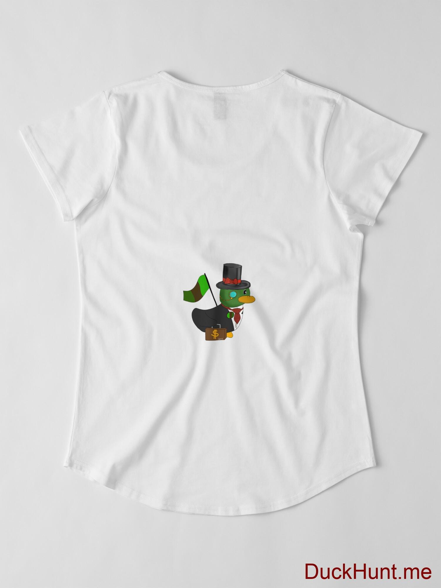 Golden Duck White Premium Scoop T-Shirt (Back printed) alternative image 2