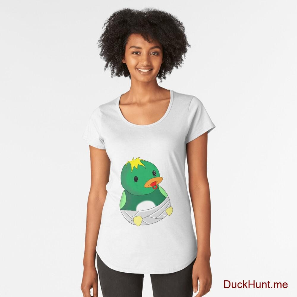 Baby duck White Premium Scoop T-Shirt (Front printed)