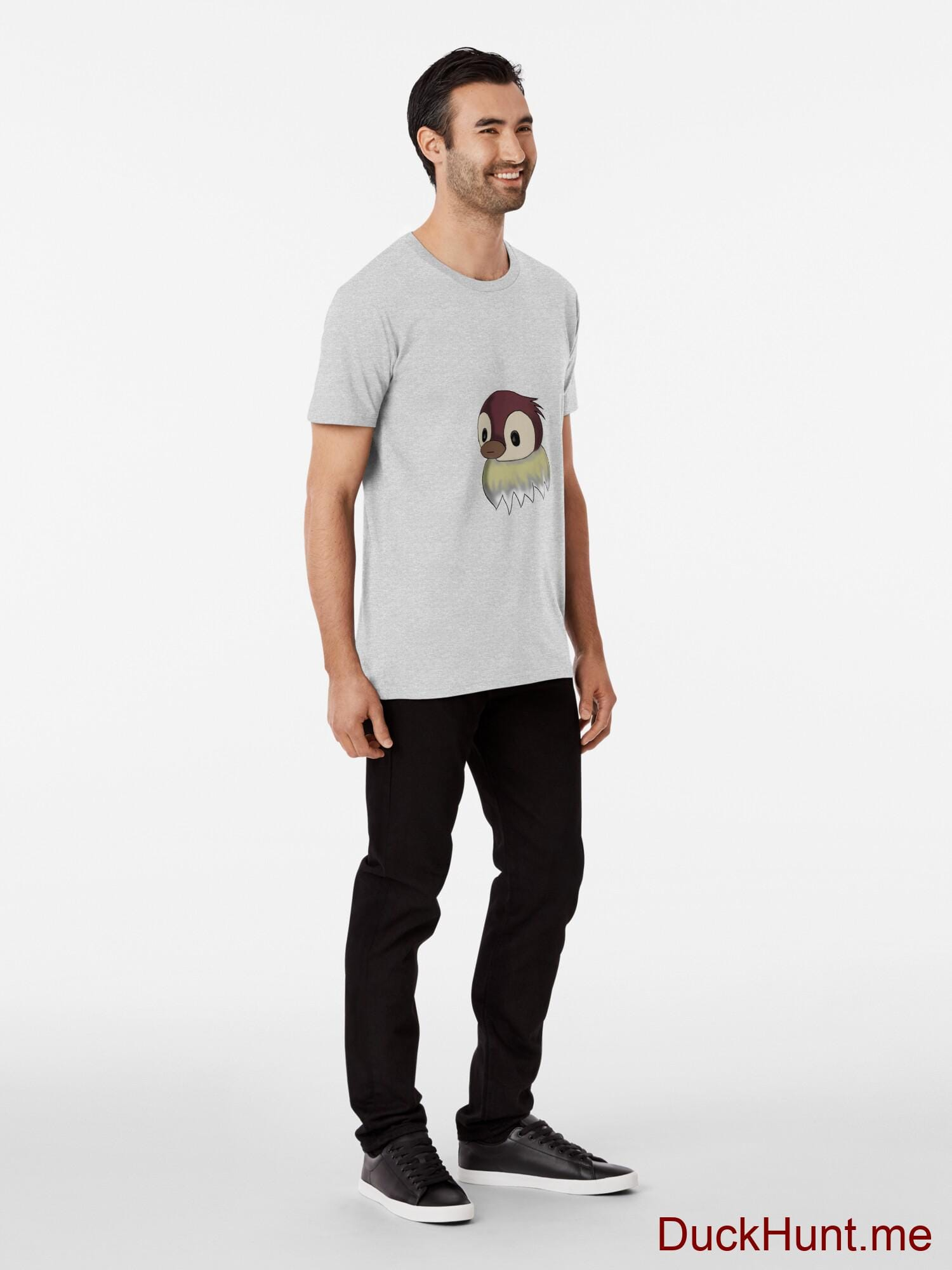 Ghost Duck (fogless) Heather Grey Premium T-Shirt (Front printed) alternative image 2