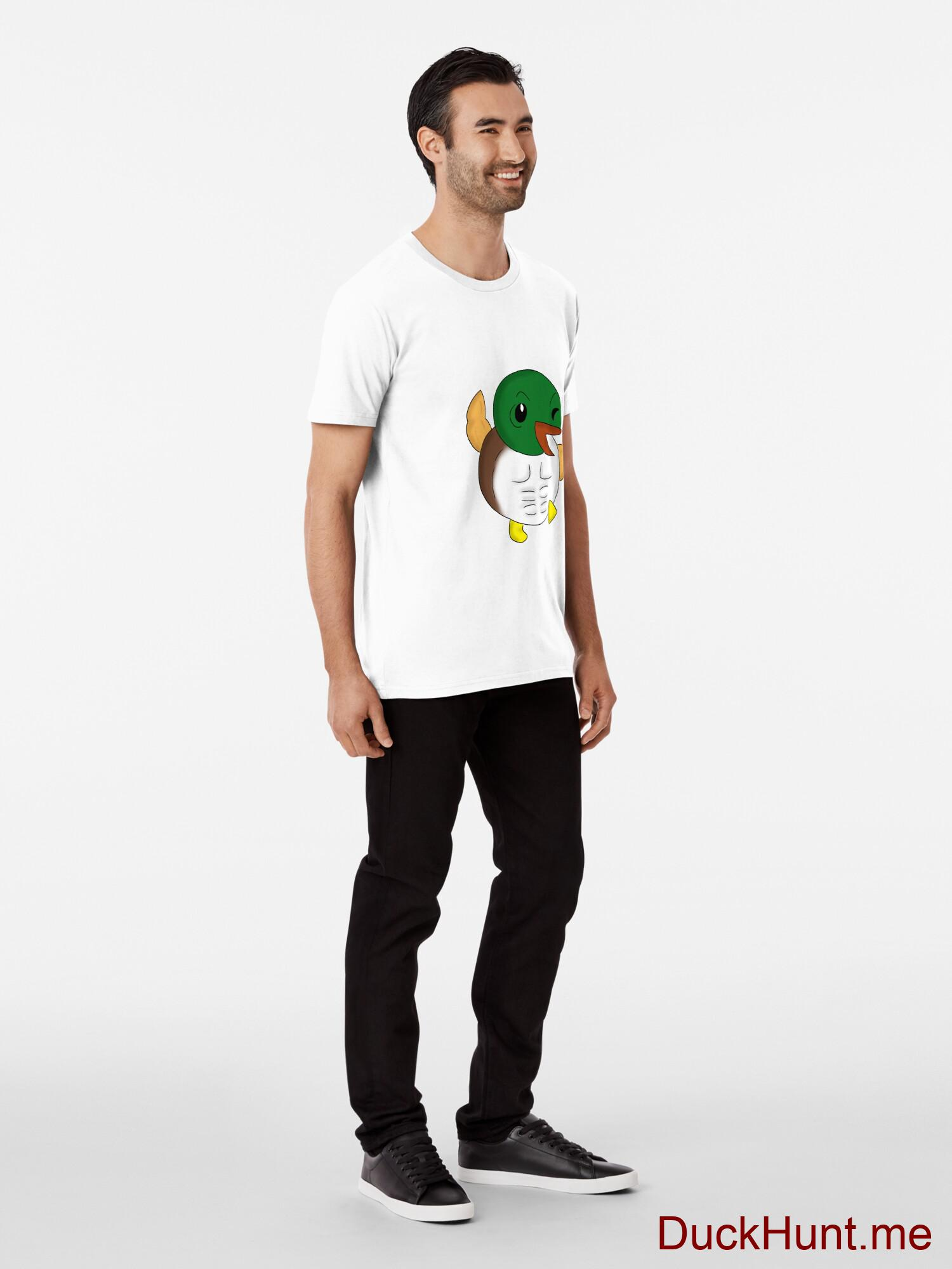 Super duck White Premium T-Shirt (Front printed) alternative image 2