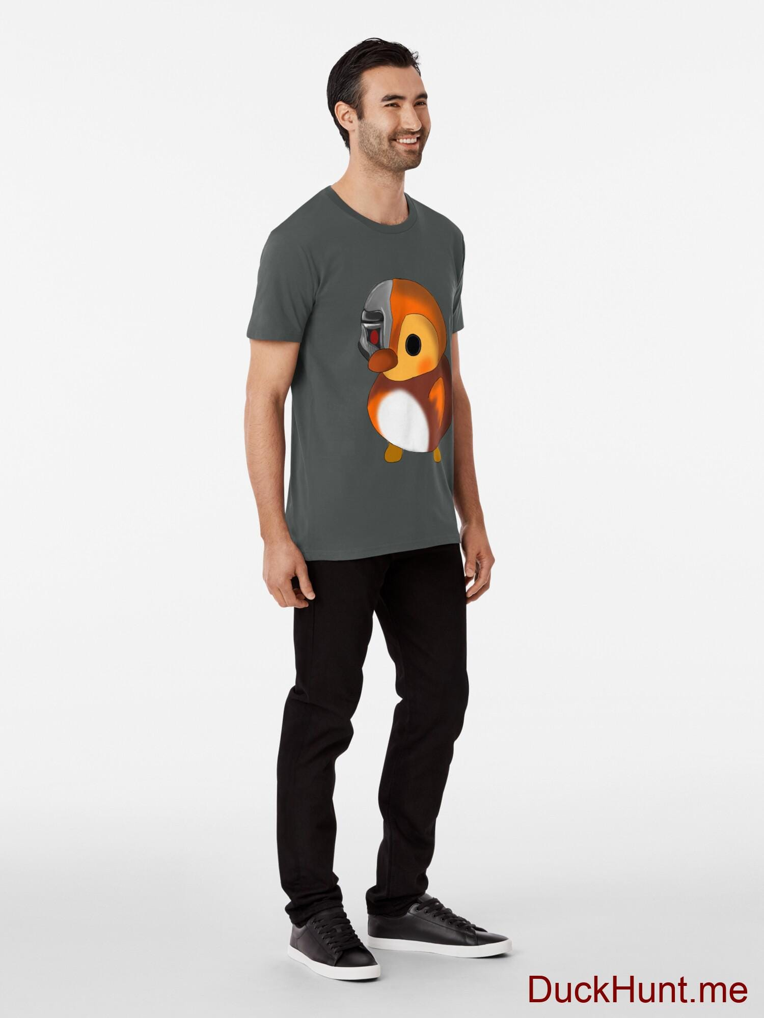 Mechanical Duck Dark Grey Premium T-Shirt (Back printed) alternative image 2
