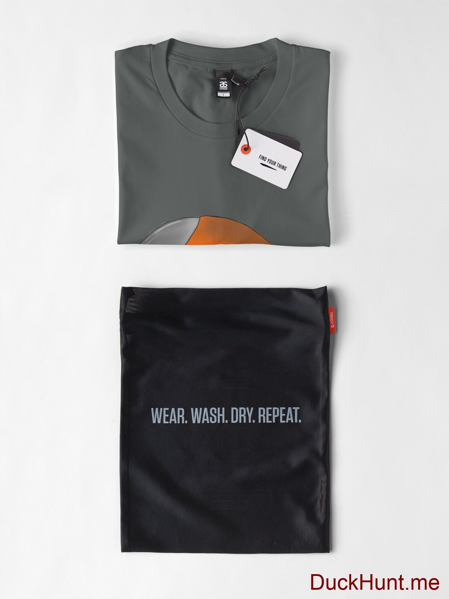Mechanical Duck Dark Grey Premium T-Shirt (Back printed) alternative image 5