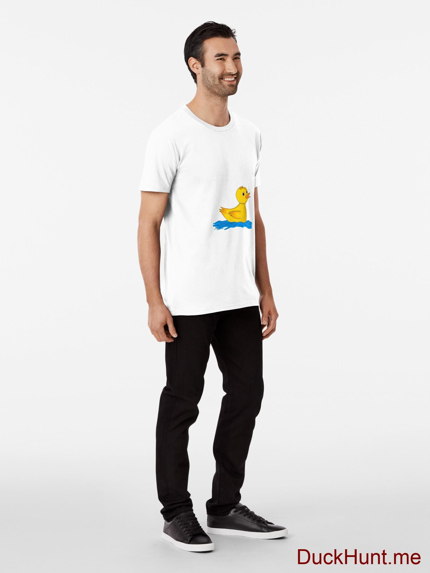 Plastic Duck White Premium T-Shirt (Front printed) alternative image 2