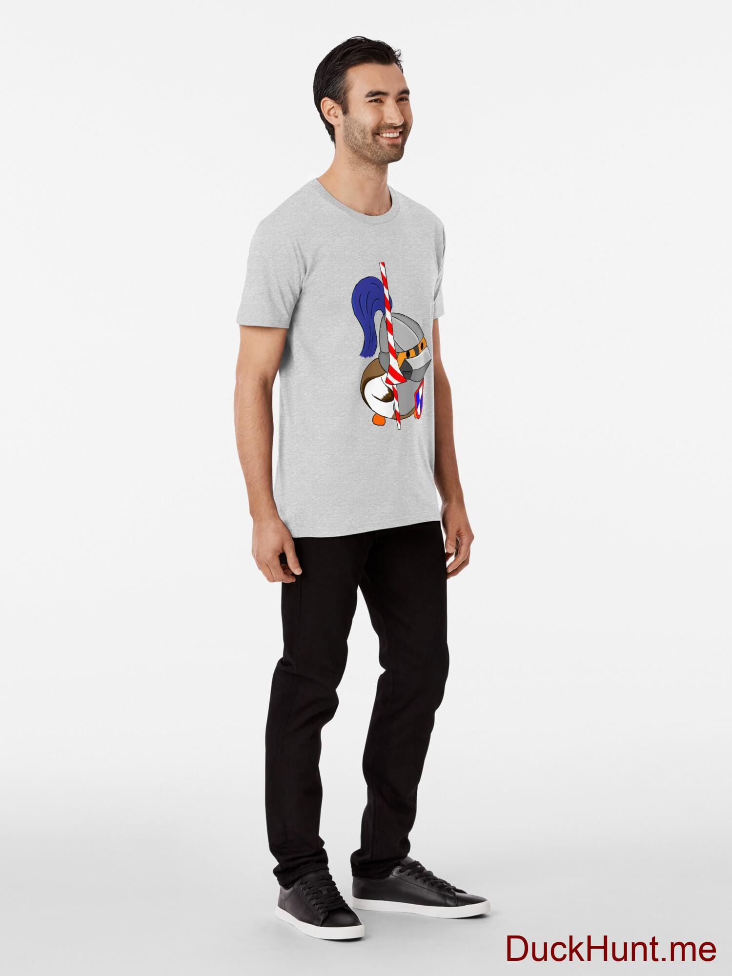 Armored Duck Heather Grey Premium T-Shirt (Front printed) alternative image 2