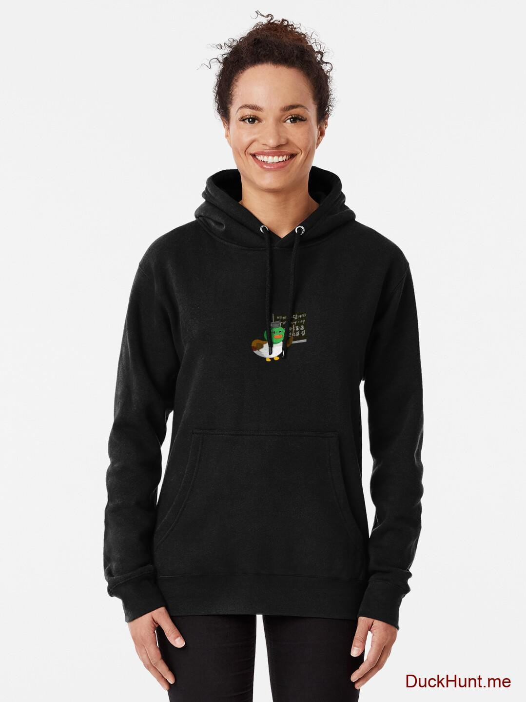 Prof Duck Black Pullover Hoodie (Front printed) alternative image 1