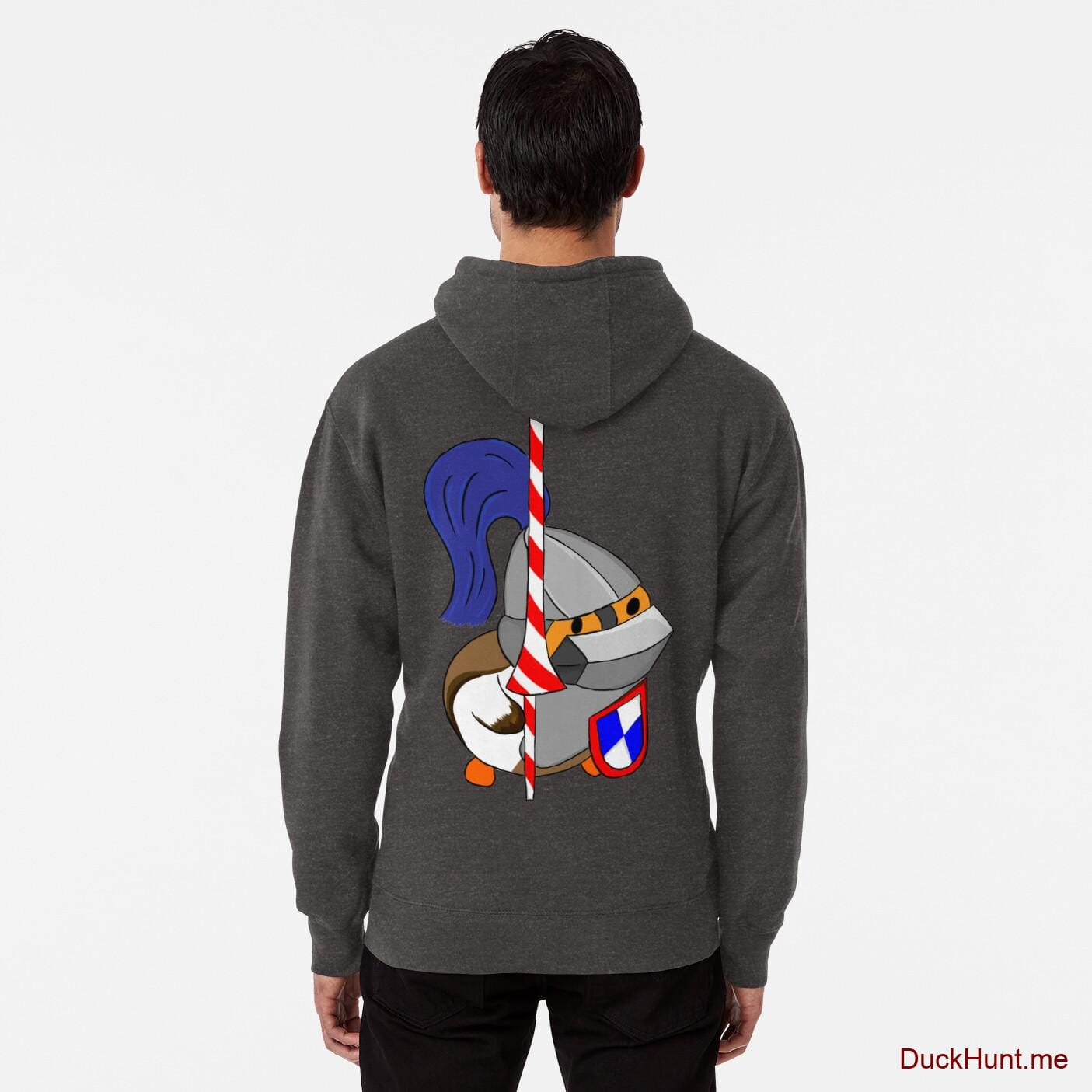 Armored Duck Charcoal Heather Pullover Hoodie (Back printed)
