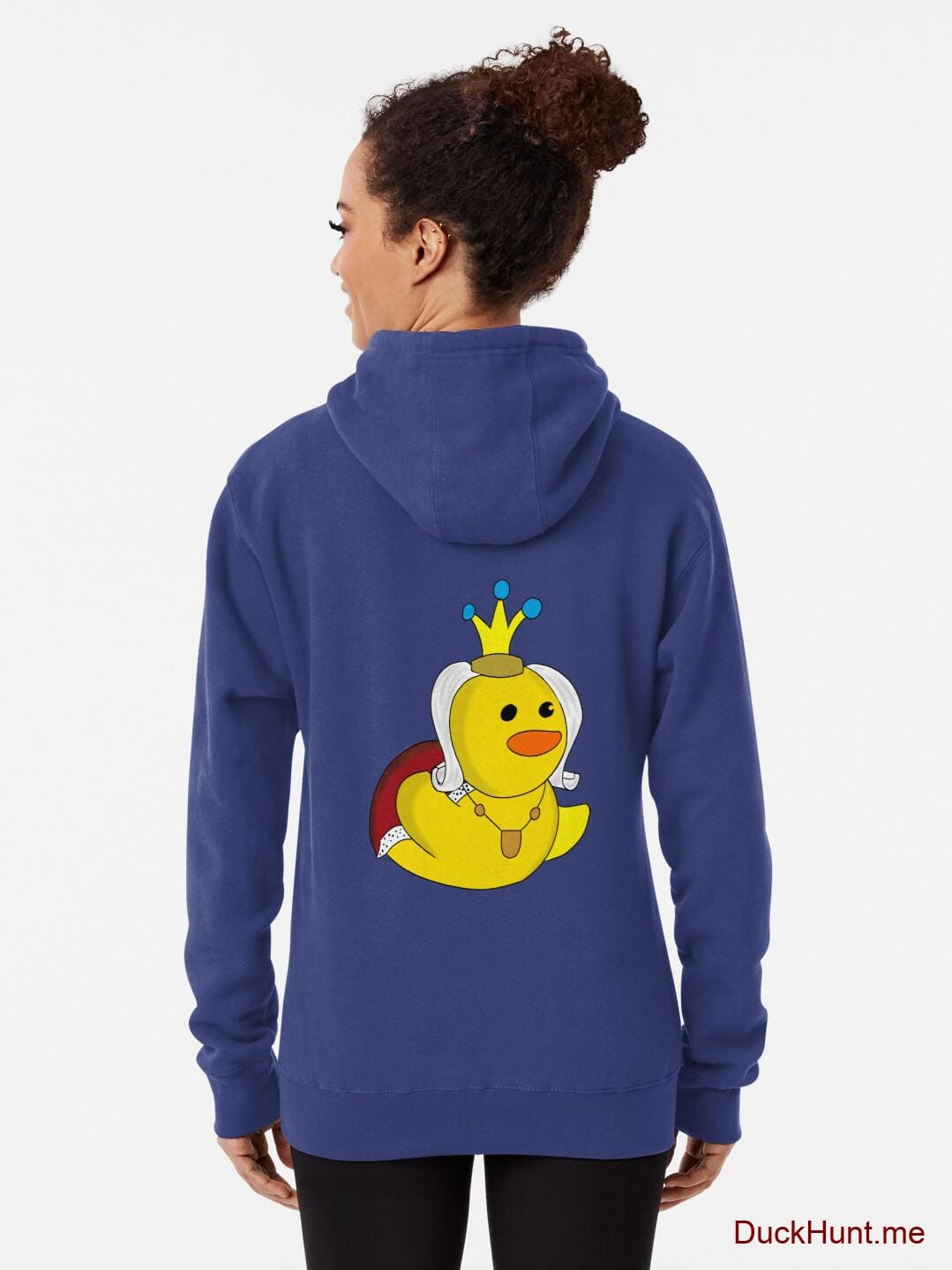 Royal Duck Blue Pullover Hoodie (Back printed) alternative image 1