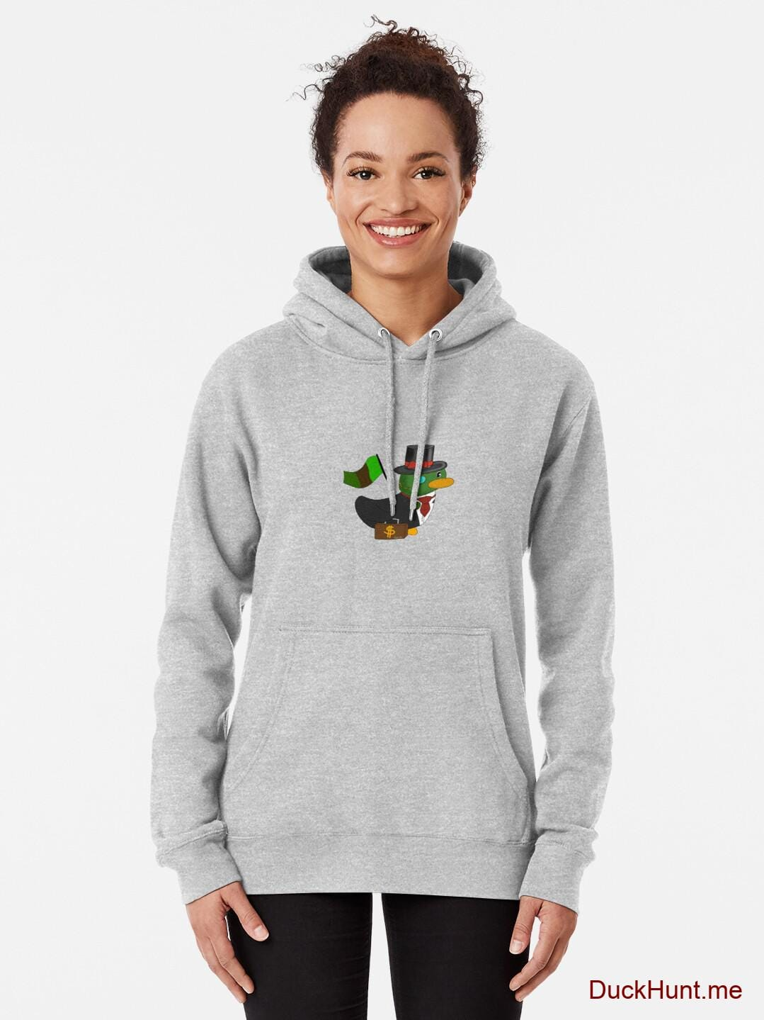 Golden Duck Heather Grey Pullover Hoodie (Front printed) alternative image 1