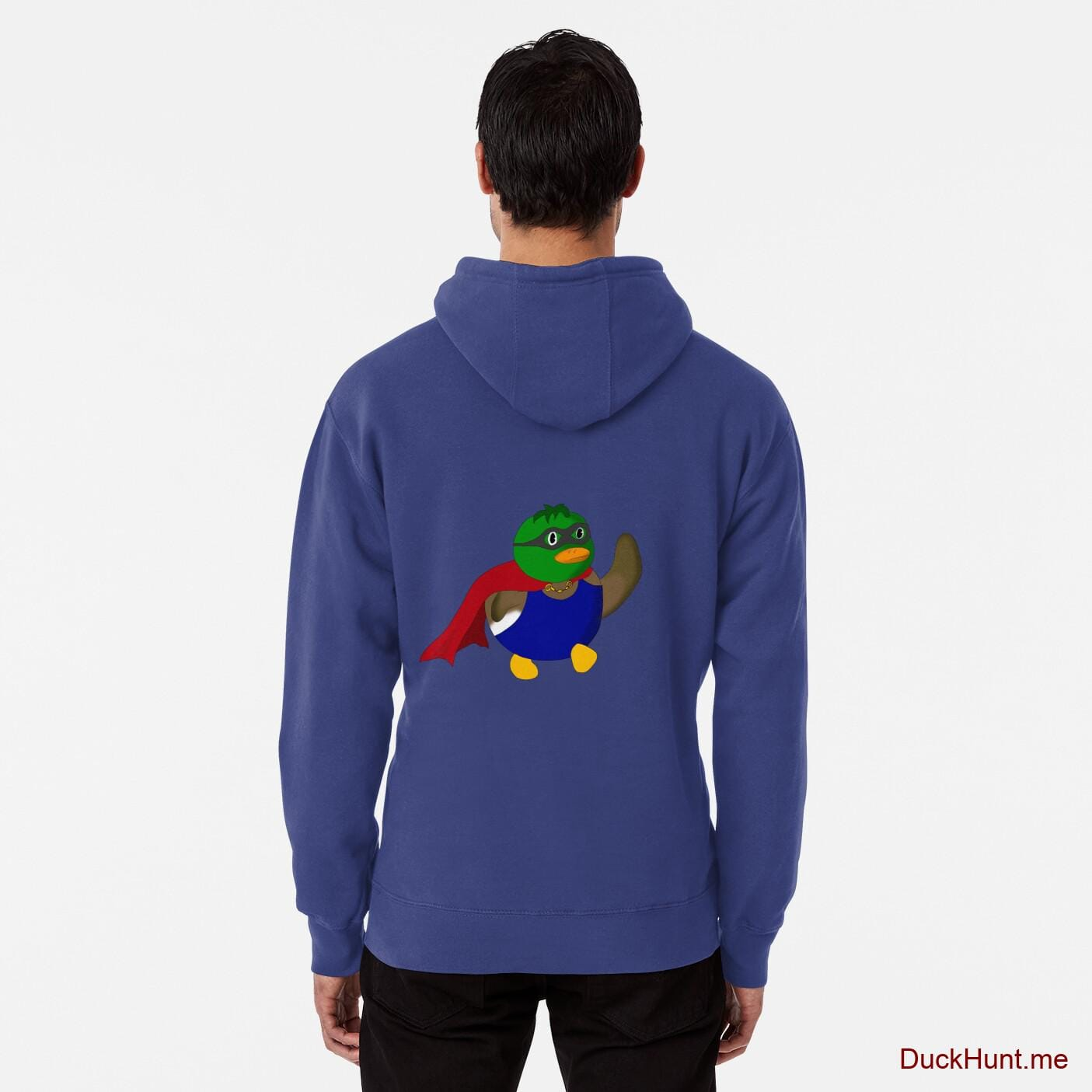 Alive Boss Duck Blue Pullover Hoodie (Back printed)