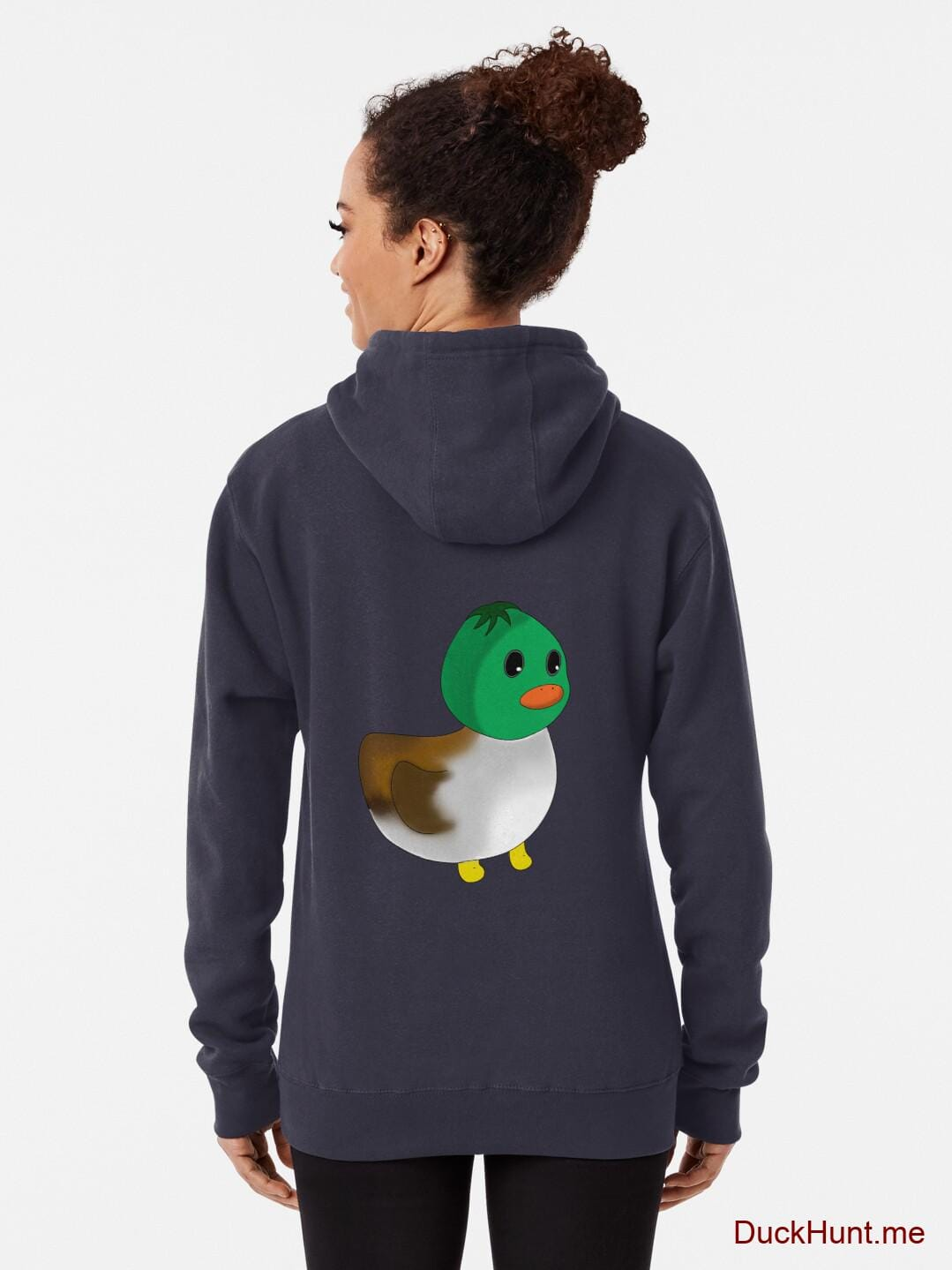 Normal Duck Dark Blue Pullover Hoodie (Back printed) alternative image 1