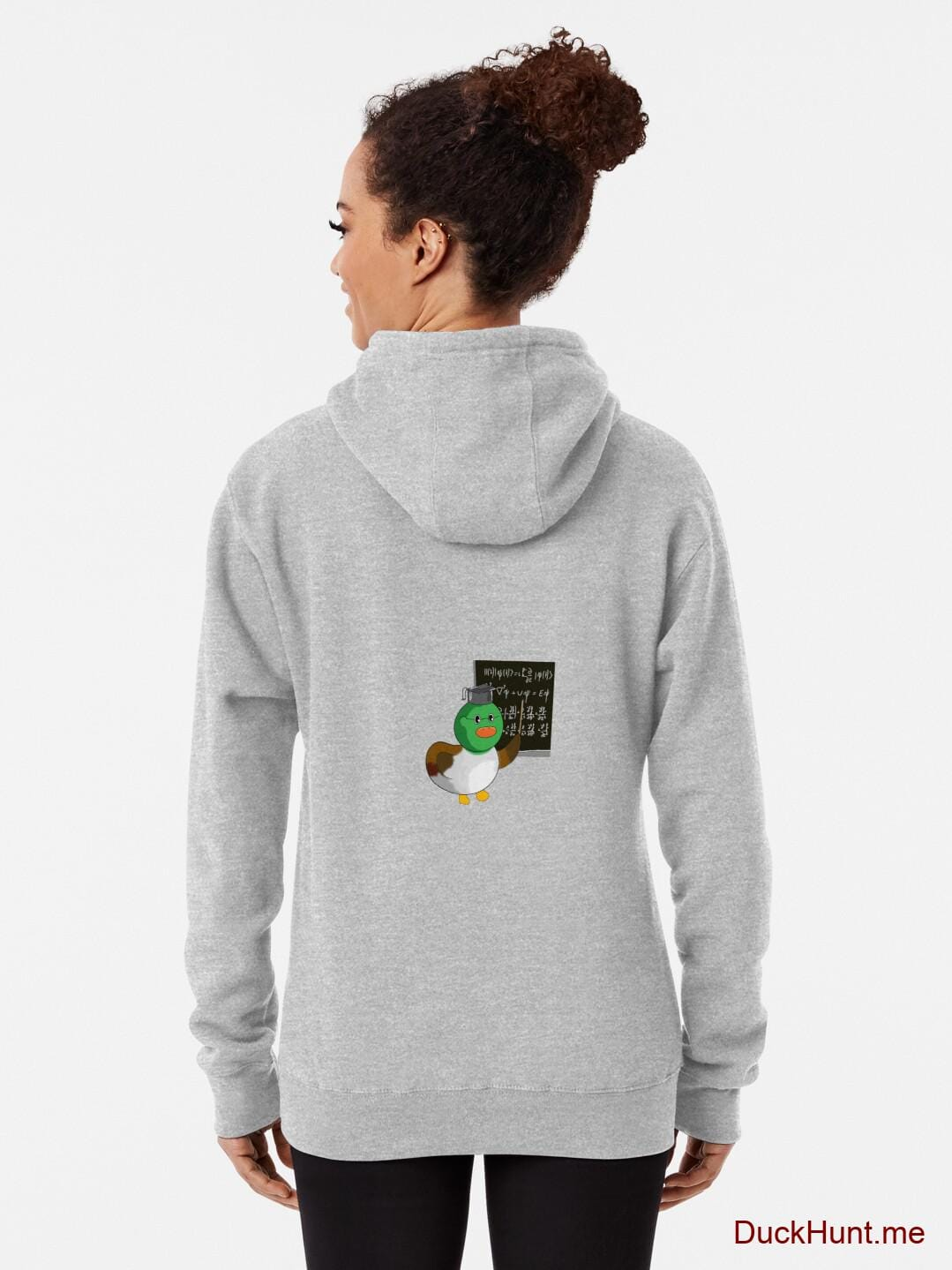Prof Duck Heather Grey Pullover Hoodie (Back printed) alternative image 1
