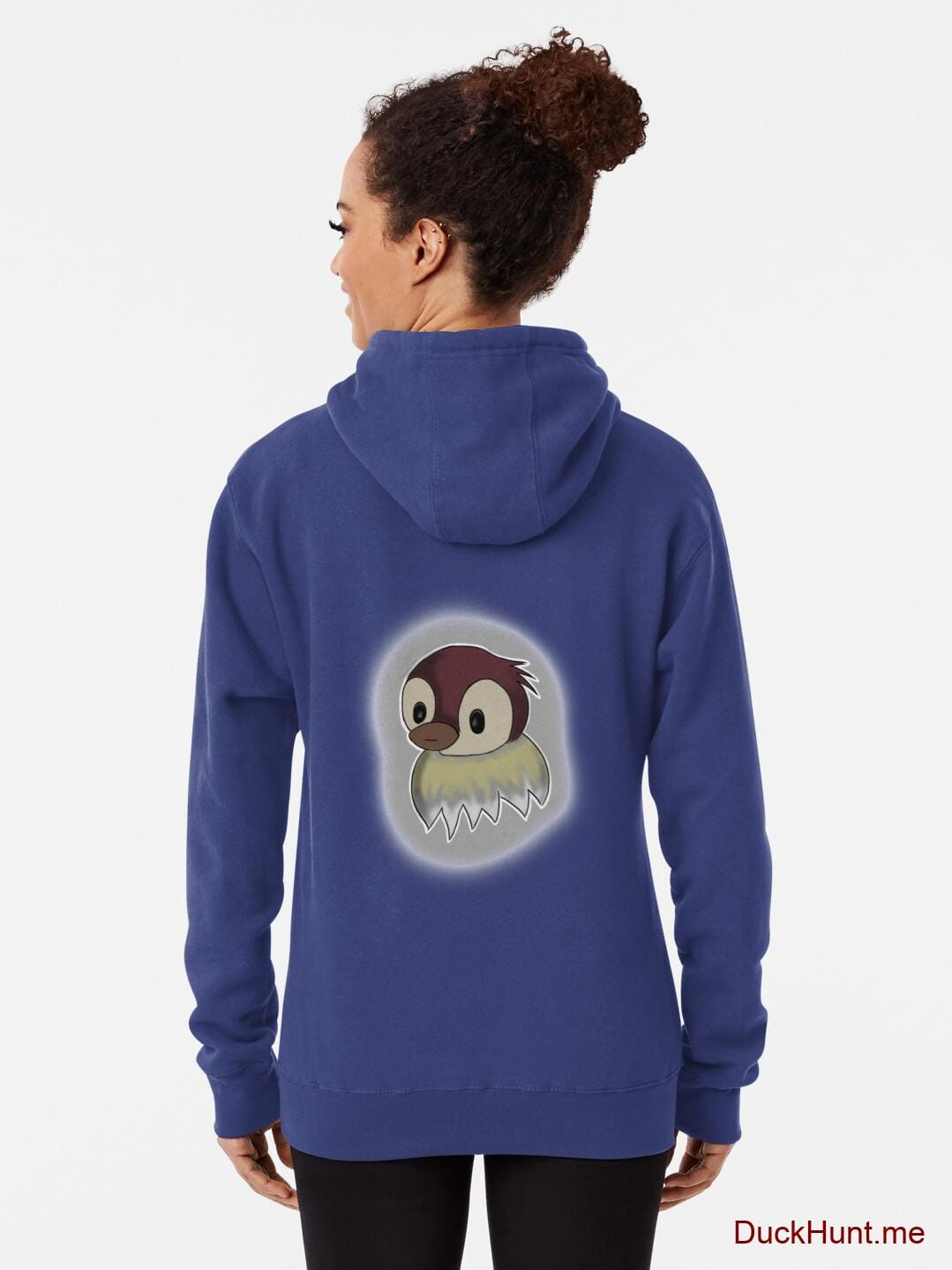 Ghost Duck (foggy) Blue Pullover Hoodie (Back printed) alternative image 1