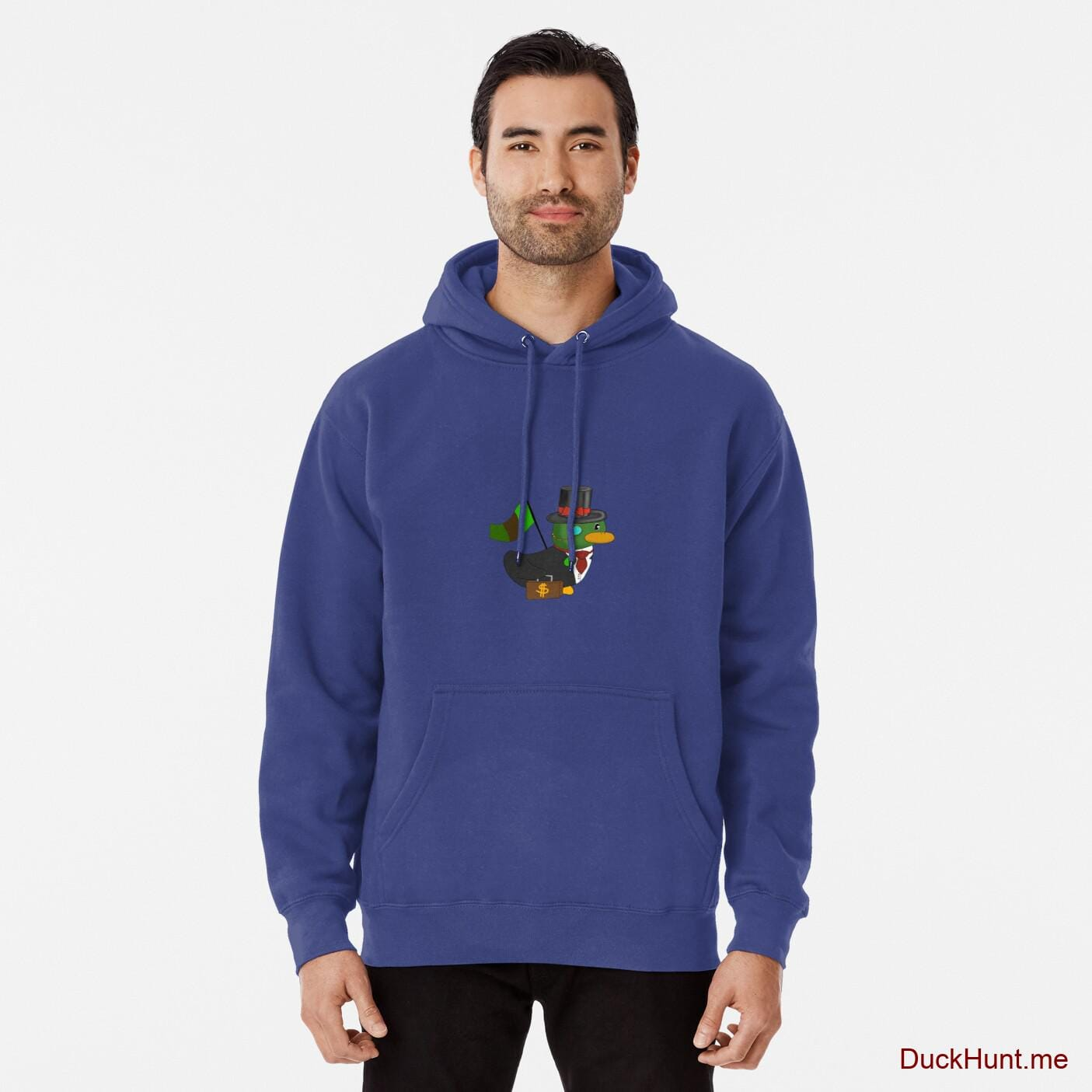 Golden Duck Blue Pullover Hoodie (Front printed)