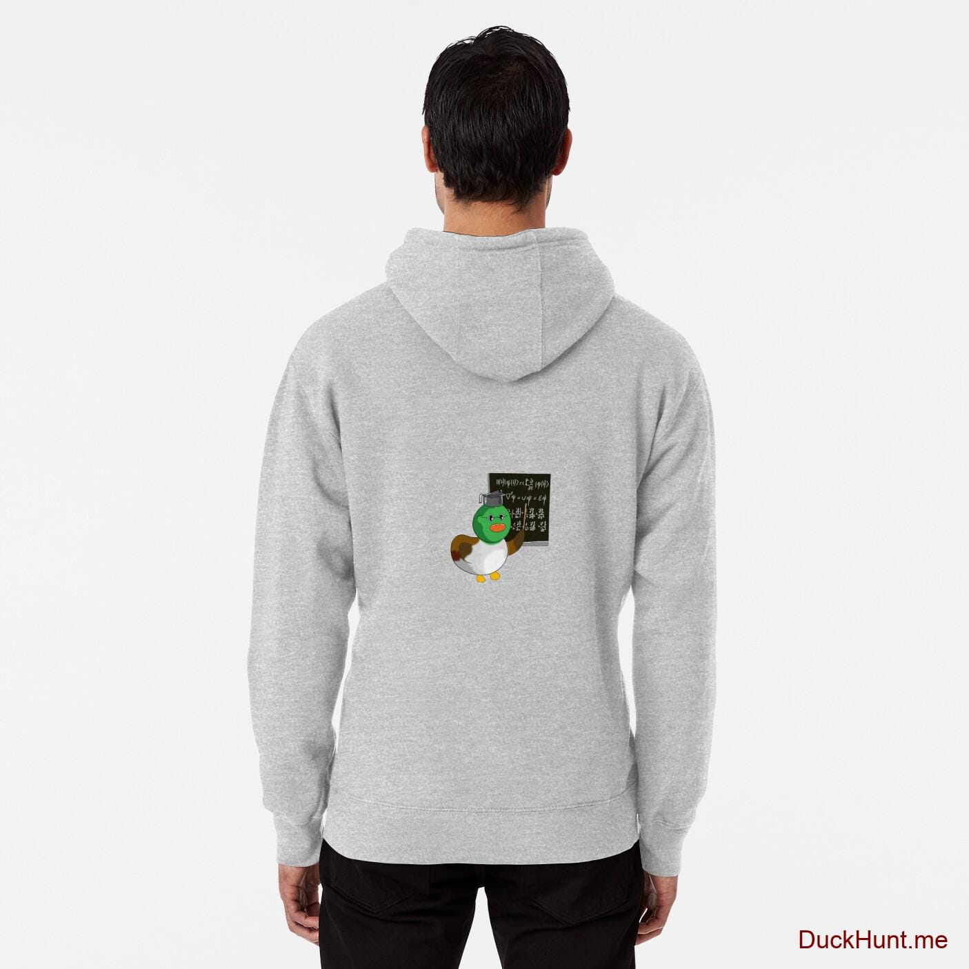 Prof Duck Heather Grey Pullover Hoodie (Back printed)