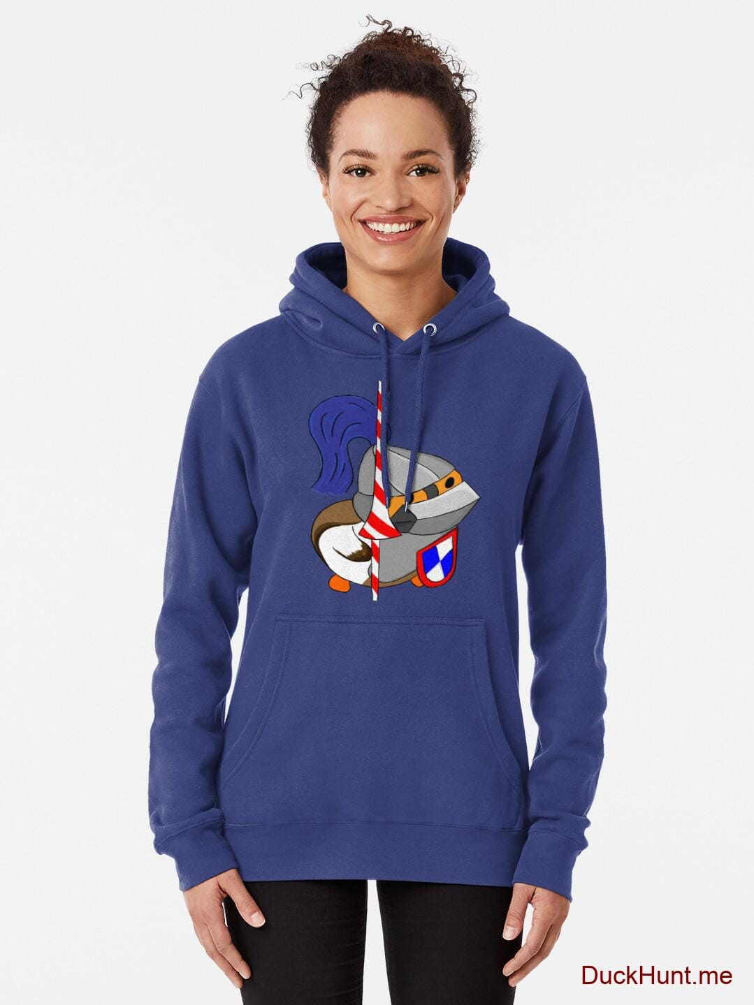 Armored Duck Blue Pullover Hoodie (Front printed) alternative image 1