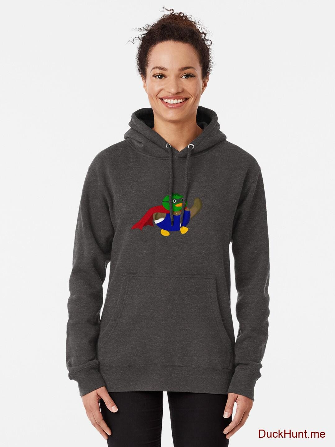 Alive Boss Duck Charcoal Heather Pullover Hoodie (Front printed) alternative image 1