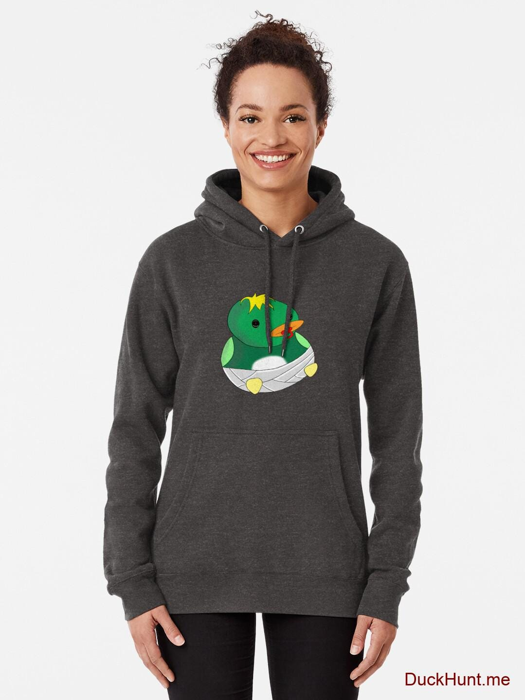 Baby duck Charcoal Heather Pullover Hoodie (Front printed) alternative image 1