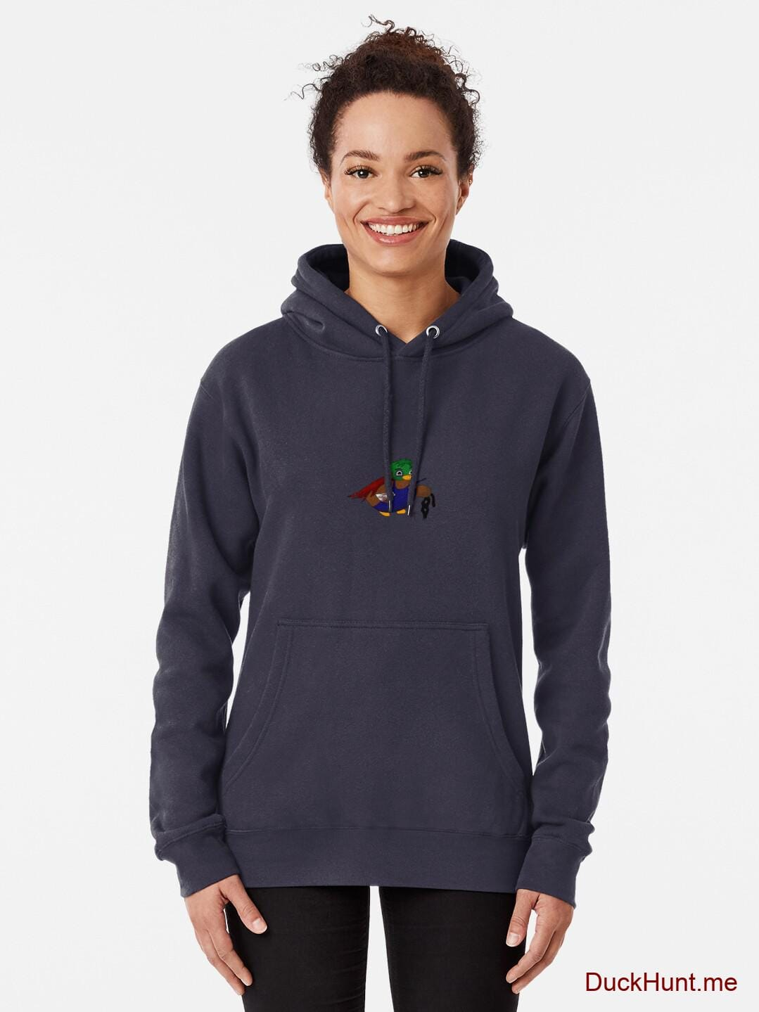 Dead DuckHunt Boss (smokeless) Dark Blue Pullover Hoodie (Front printed) alternative image 1